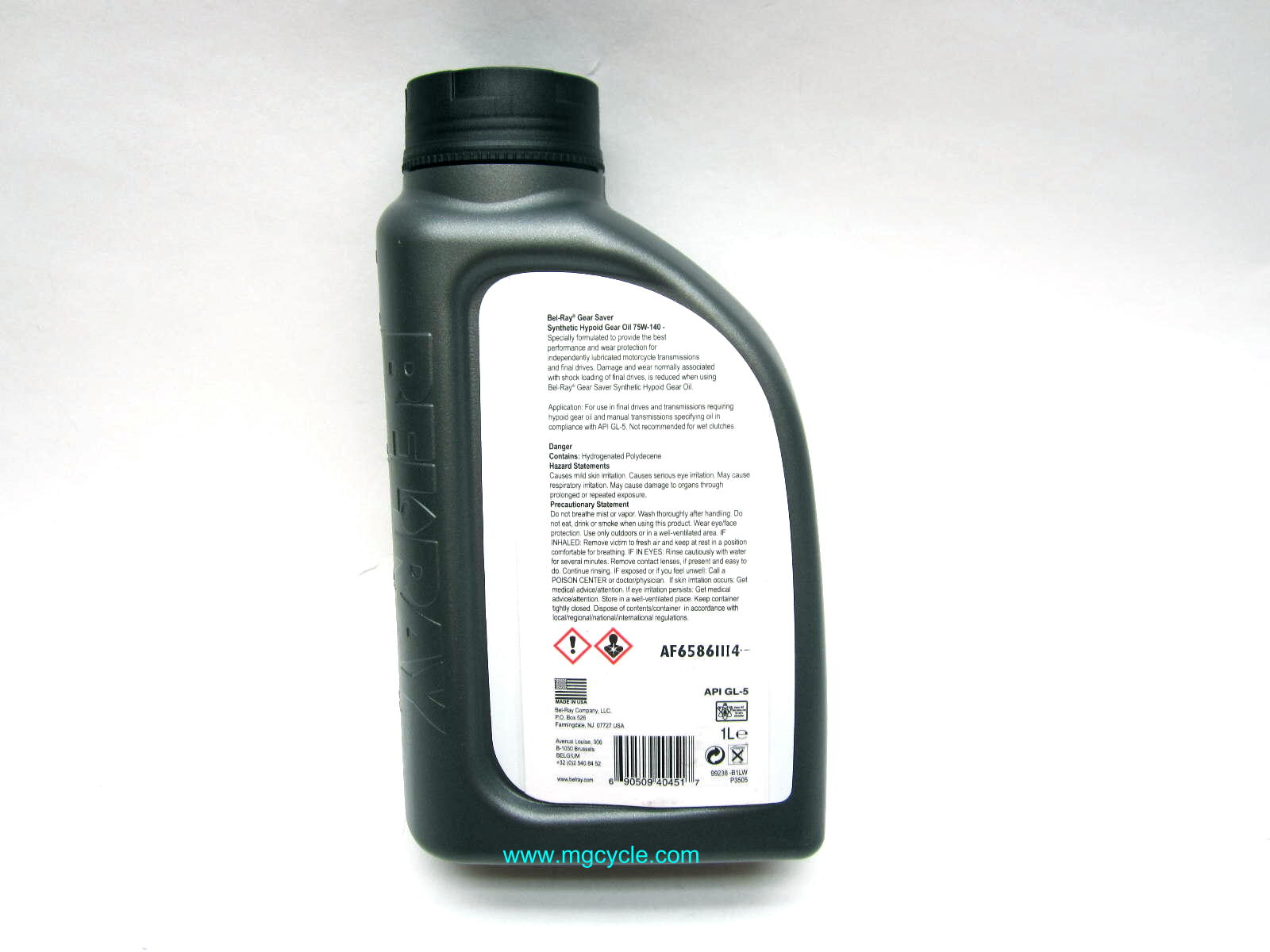 BELRAY synthetic hypoid gear oil 75W140