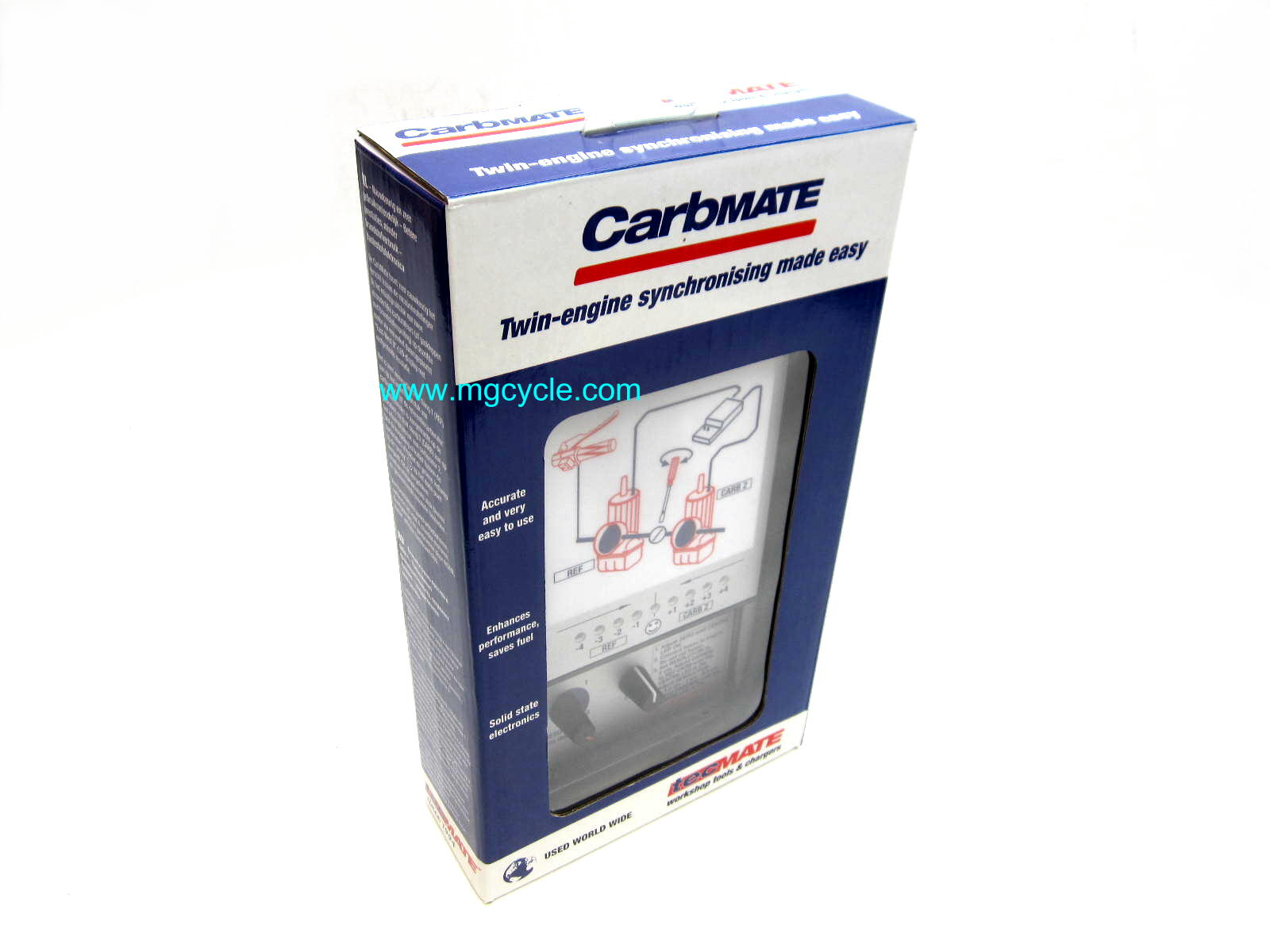 Carbmate electronic carburetor and throttle body synchronizer