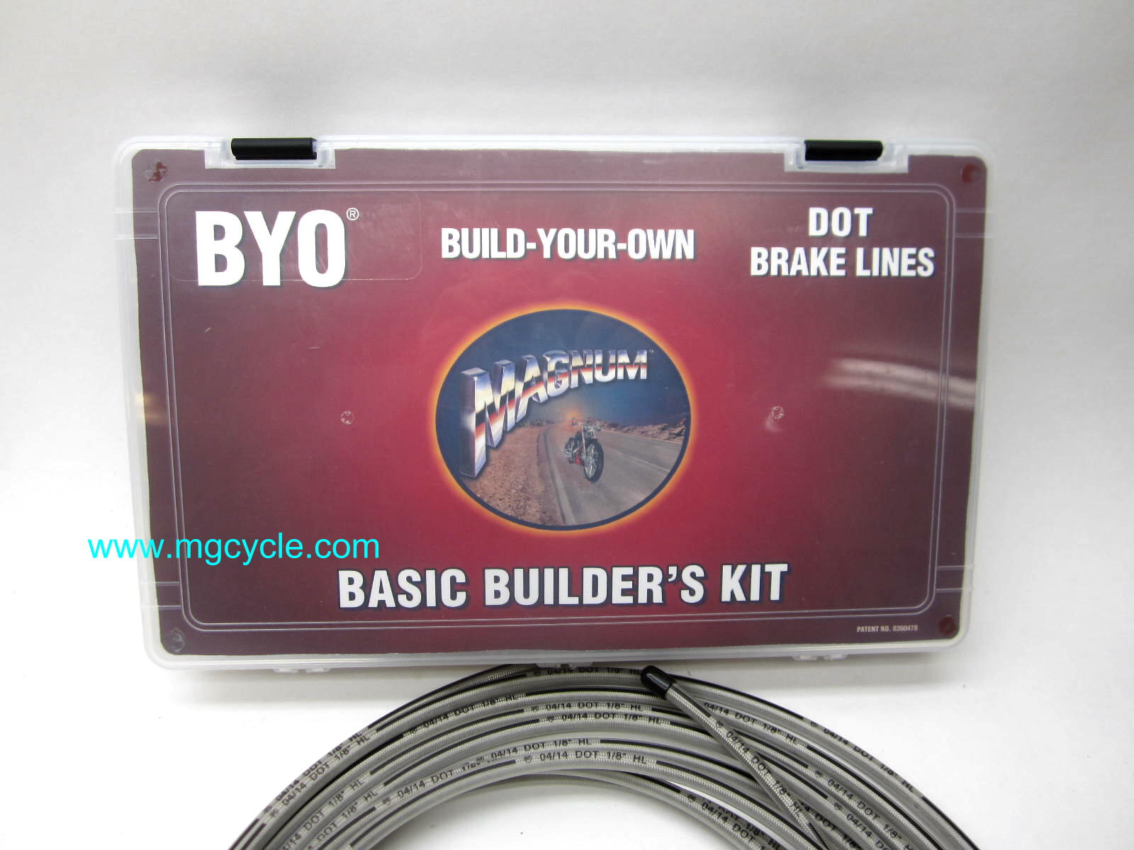 Magnum Brake Line Builders Kit, 10mm chrome and stainless