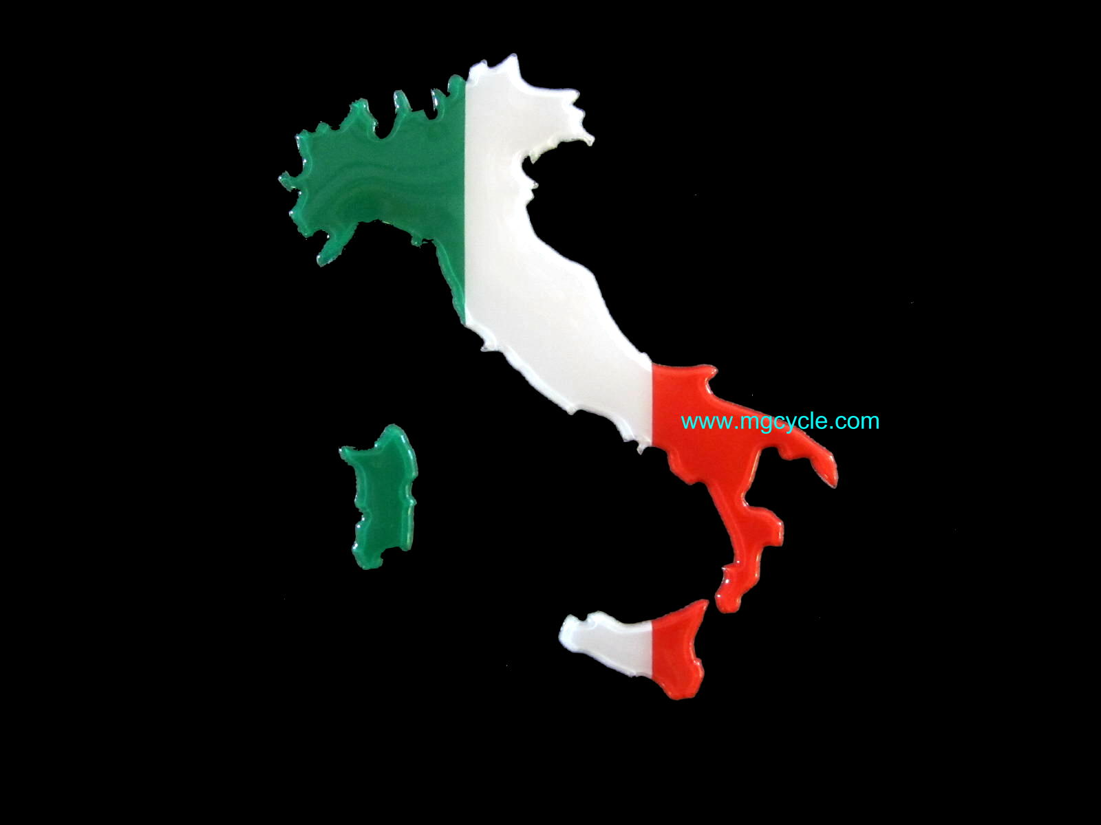 sticker: tri-color image of Italy