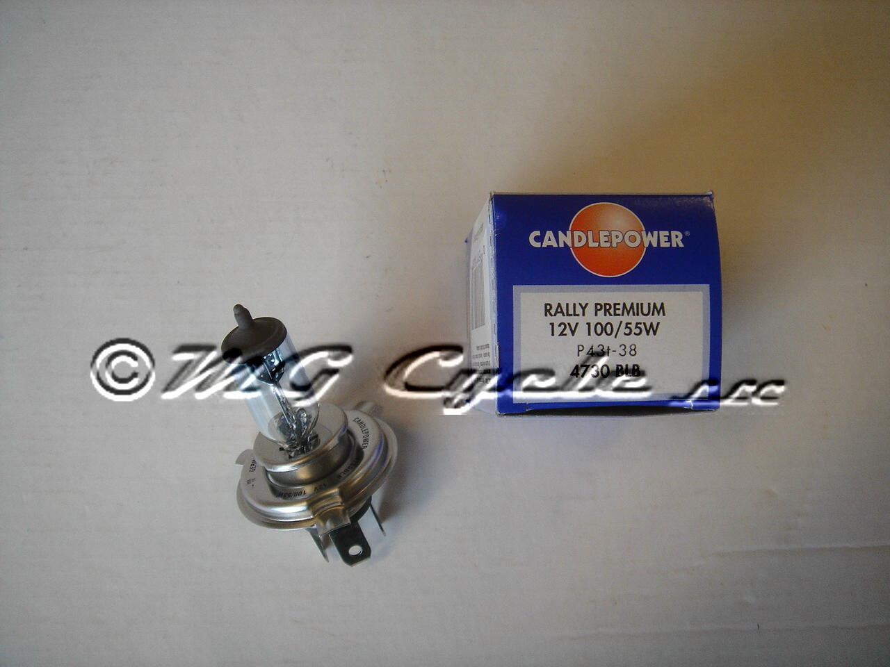 Candlepower head light bulb  P43T 100-55
