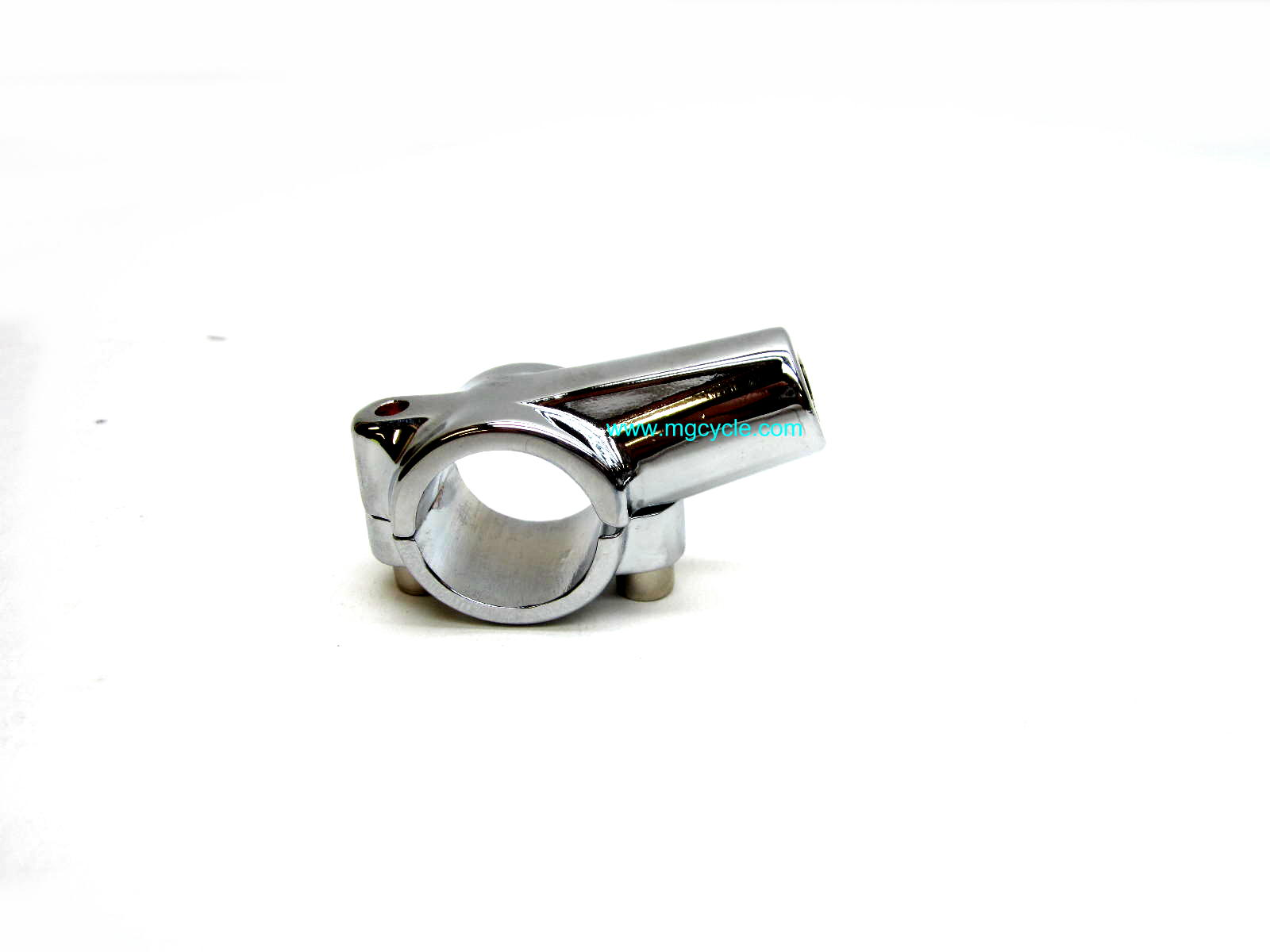 mirror mount for 10mm mirror, handlebar clamp, chrome
