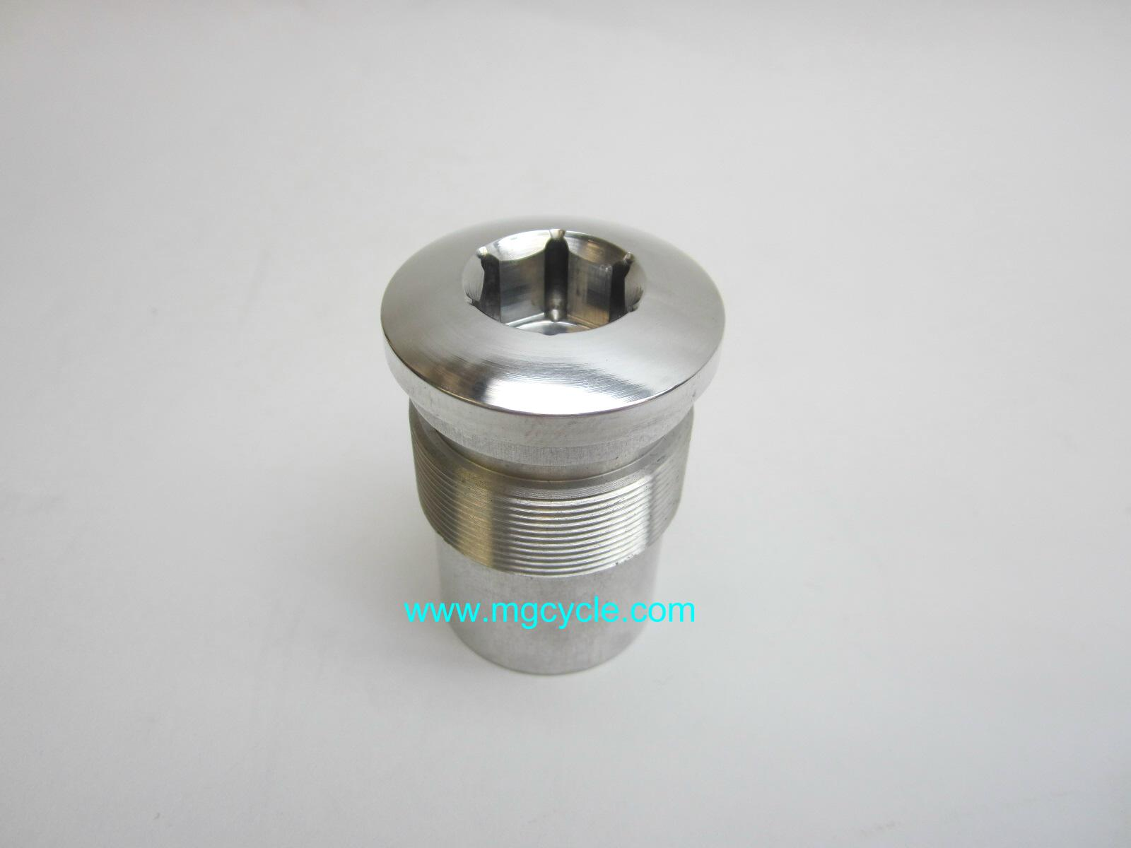 Aluminum fork top plug for 850 LeMans 1976-1978