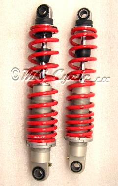 Ikon 1297 shocks aluminum body red springs