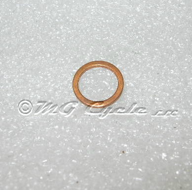 Sealing washer CARC level plug, copper, thin wall 12mm