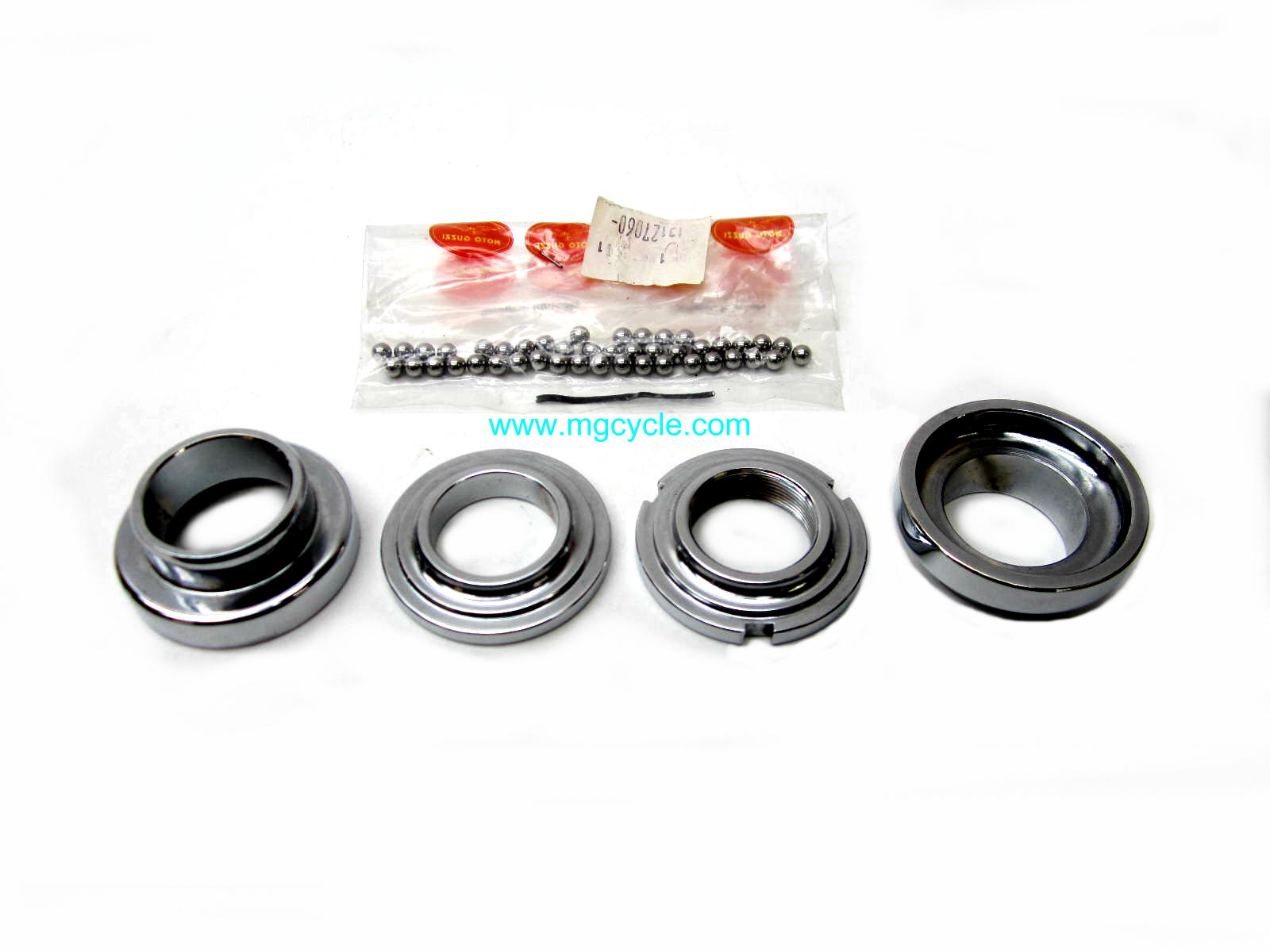 Steering head bearing kit with balls and races V50 V65