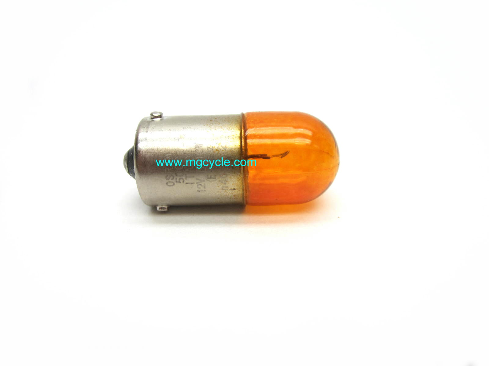 Orange turn signal bulb, 10W Offset pin Euro version 584332
