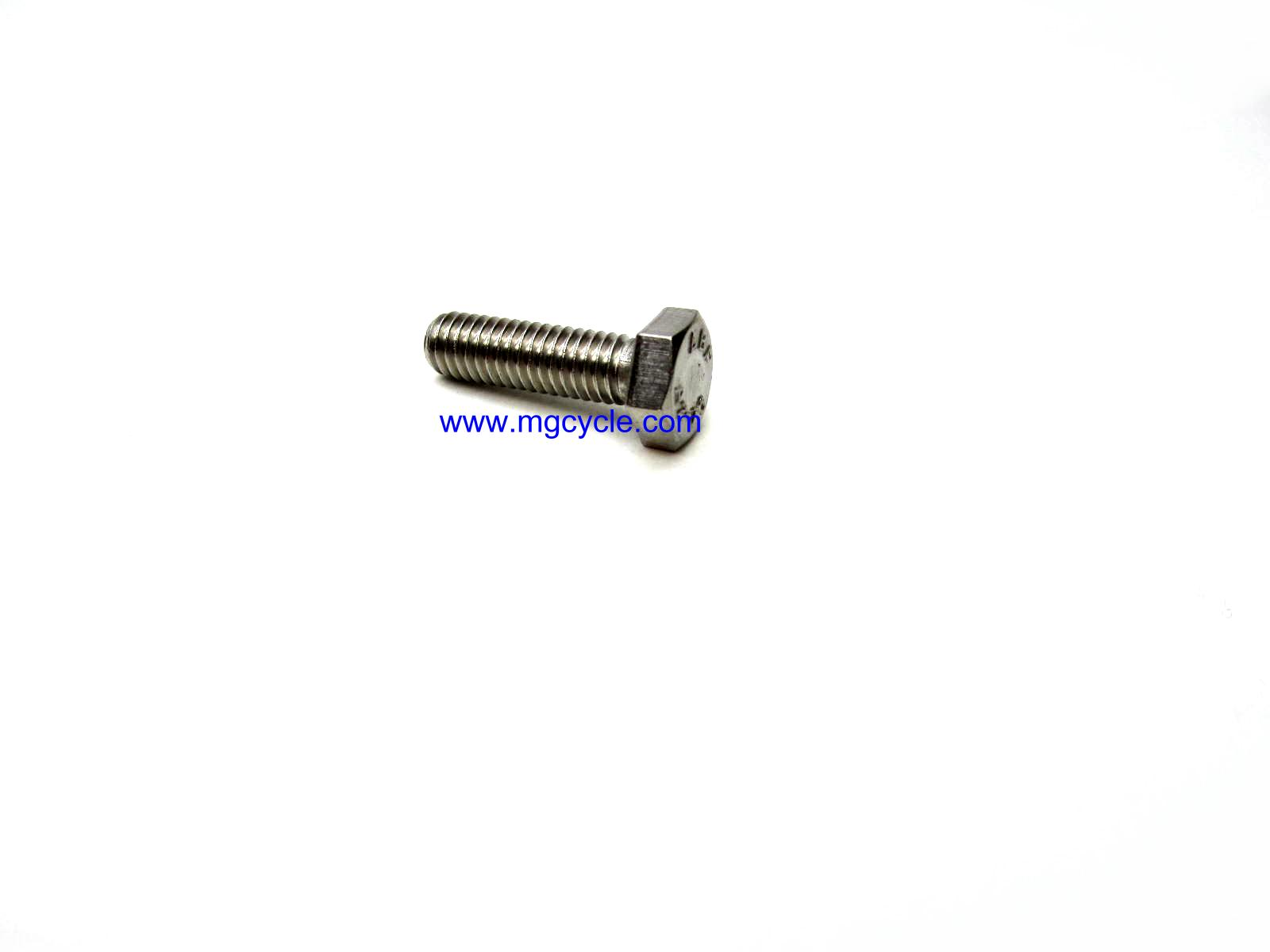 M6 hex head bolt stainless M6x1.0x20 HCS