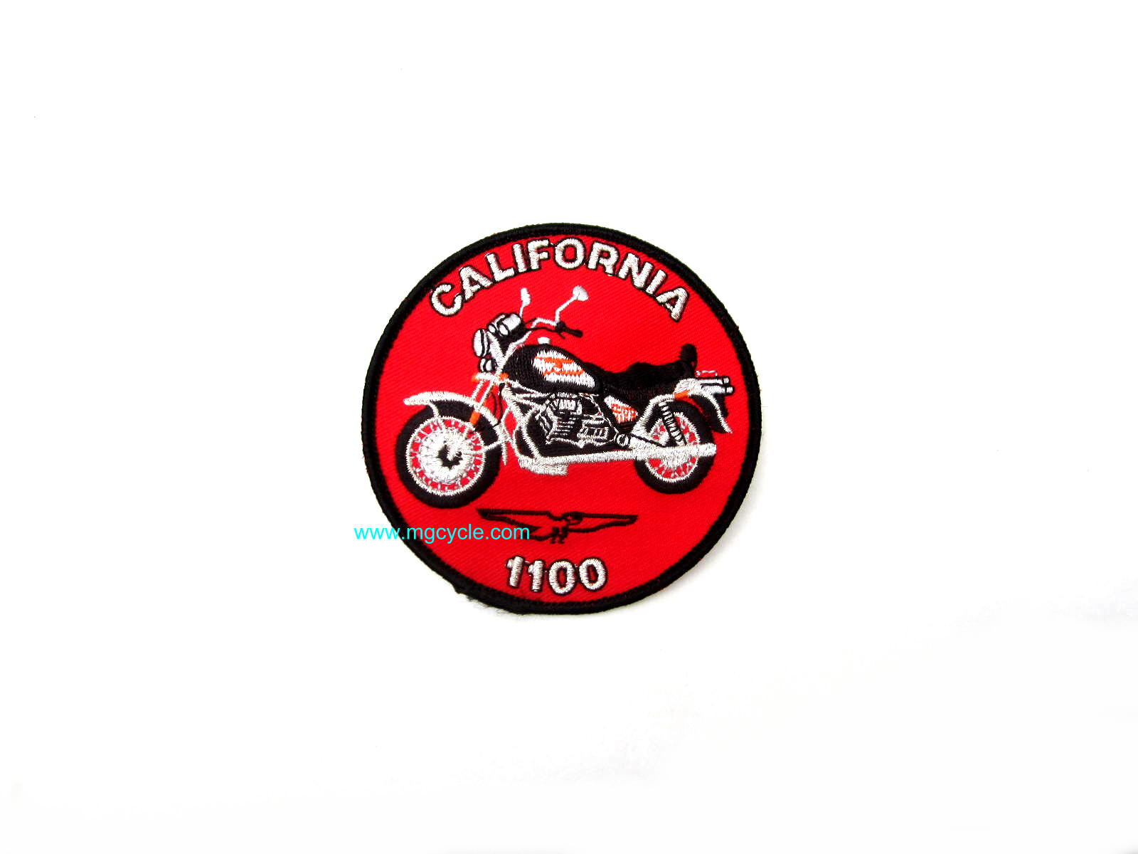 California 1100 embroidered sew-on patch