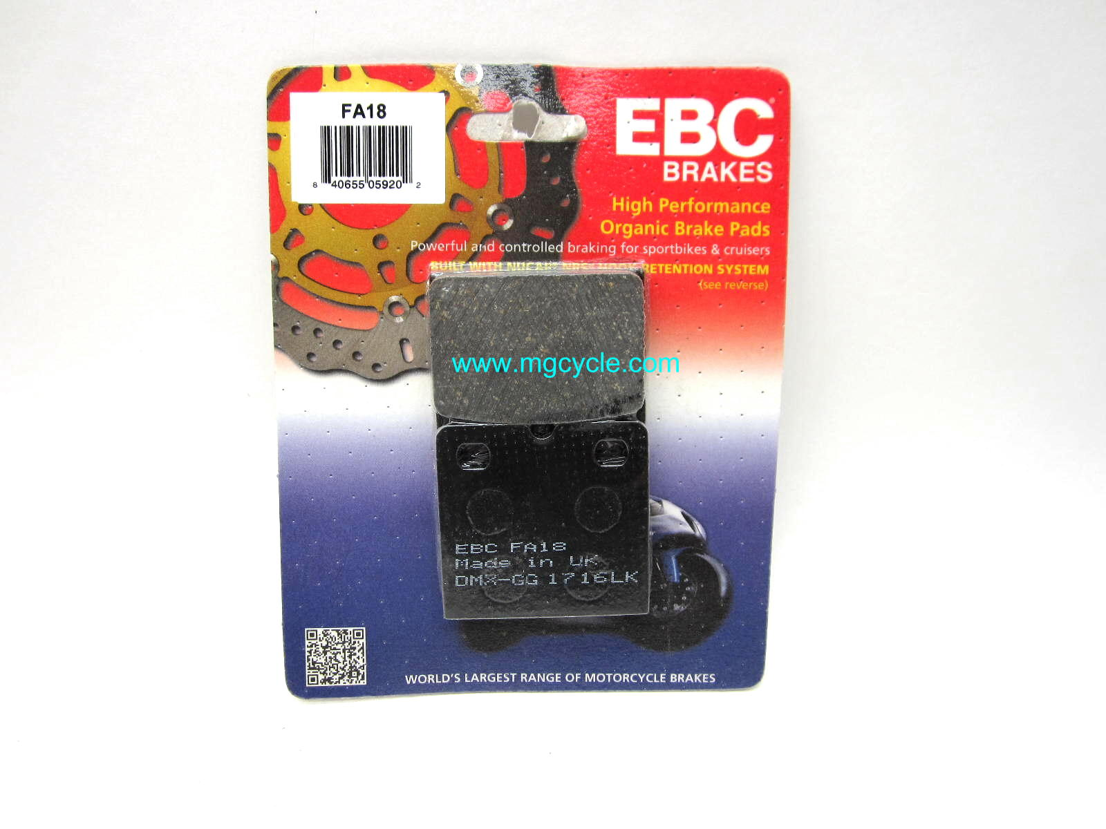 EBC kevlar organic brake pads, for F08 caliper Big Twin Guzzi