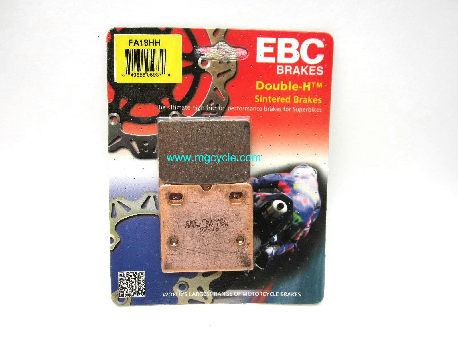 EBC HH brake pads for F08 caliper, sintered Big Twin Guzzi