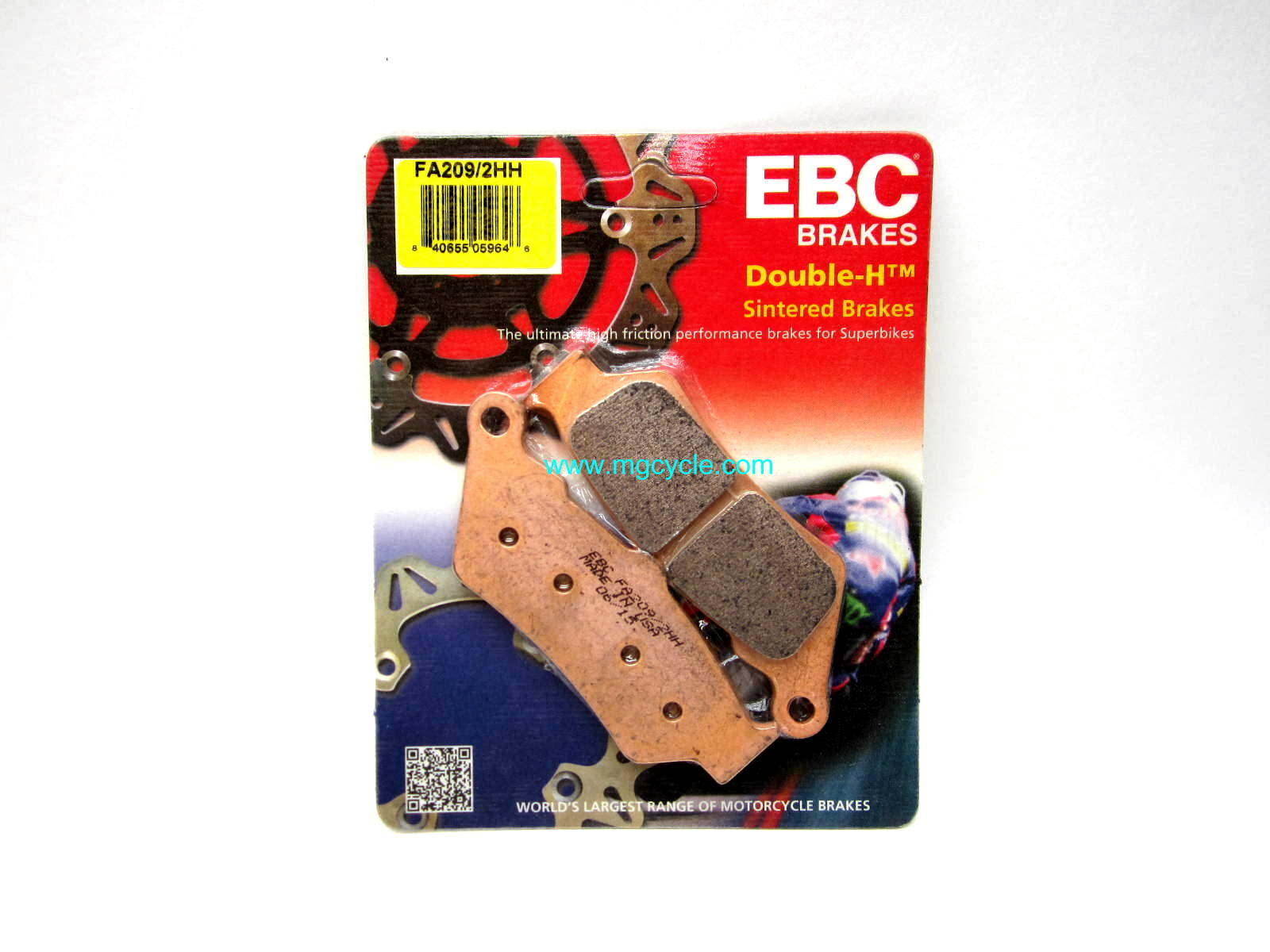 EBC sintered brake pad, rear '97+1100 Cali's/1400s Quota front