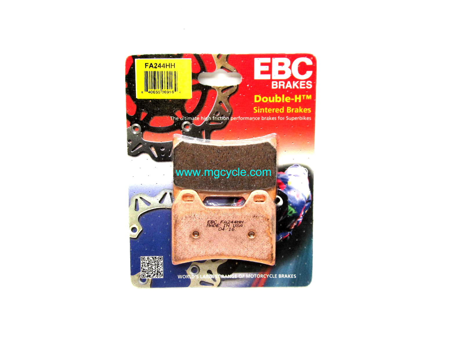 EBC sintered 2 pin front brake pads, most 2001 and later