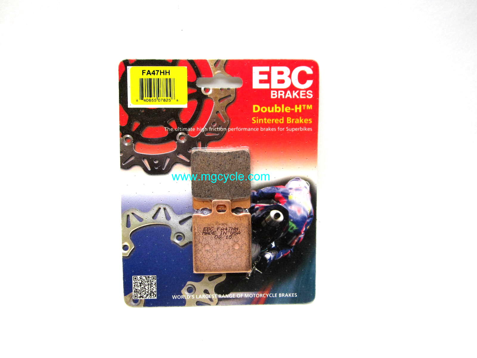 EBC sintered brake pads, F05 small twins, Spine frame rear