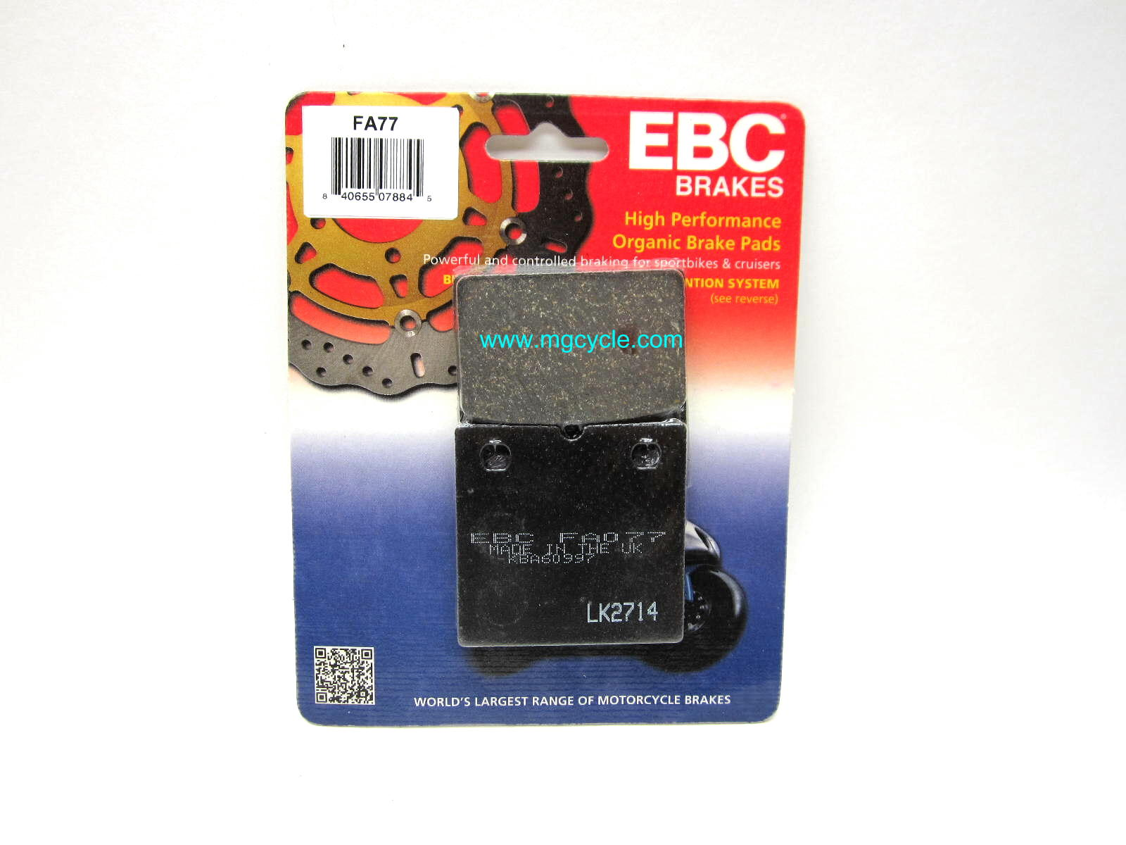 EBC kevlar organic pad for F09 caliper SP1000