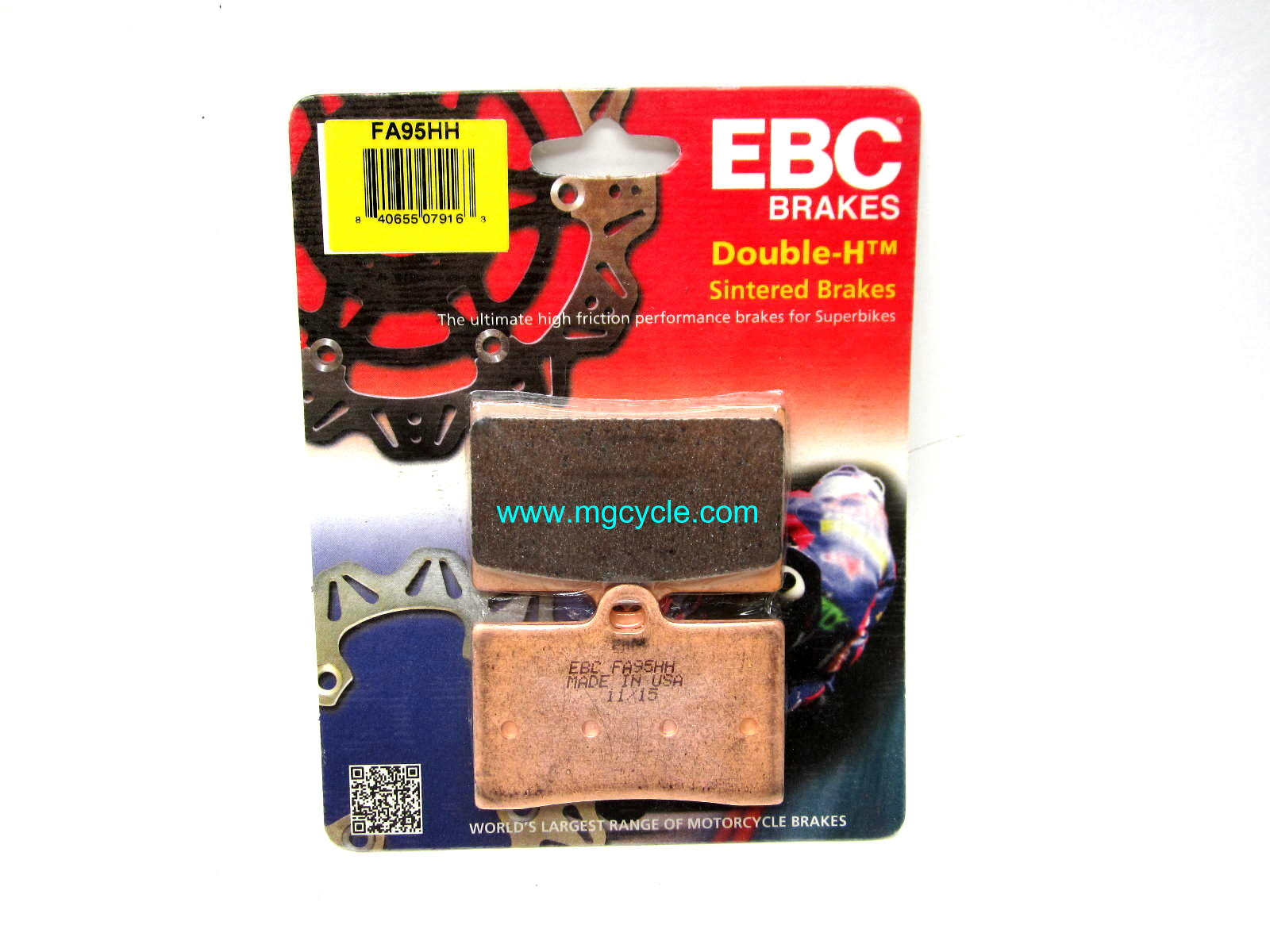 EBC Sintered pads for 1 pin gold front calipers EV V11 Sport