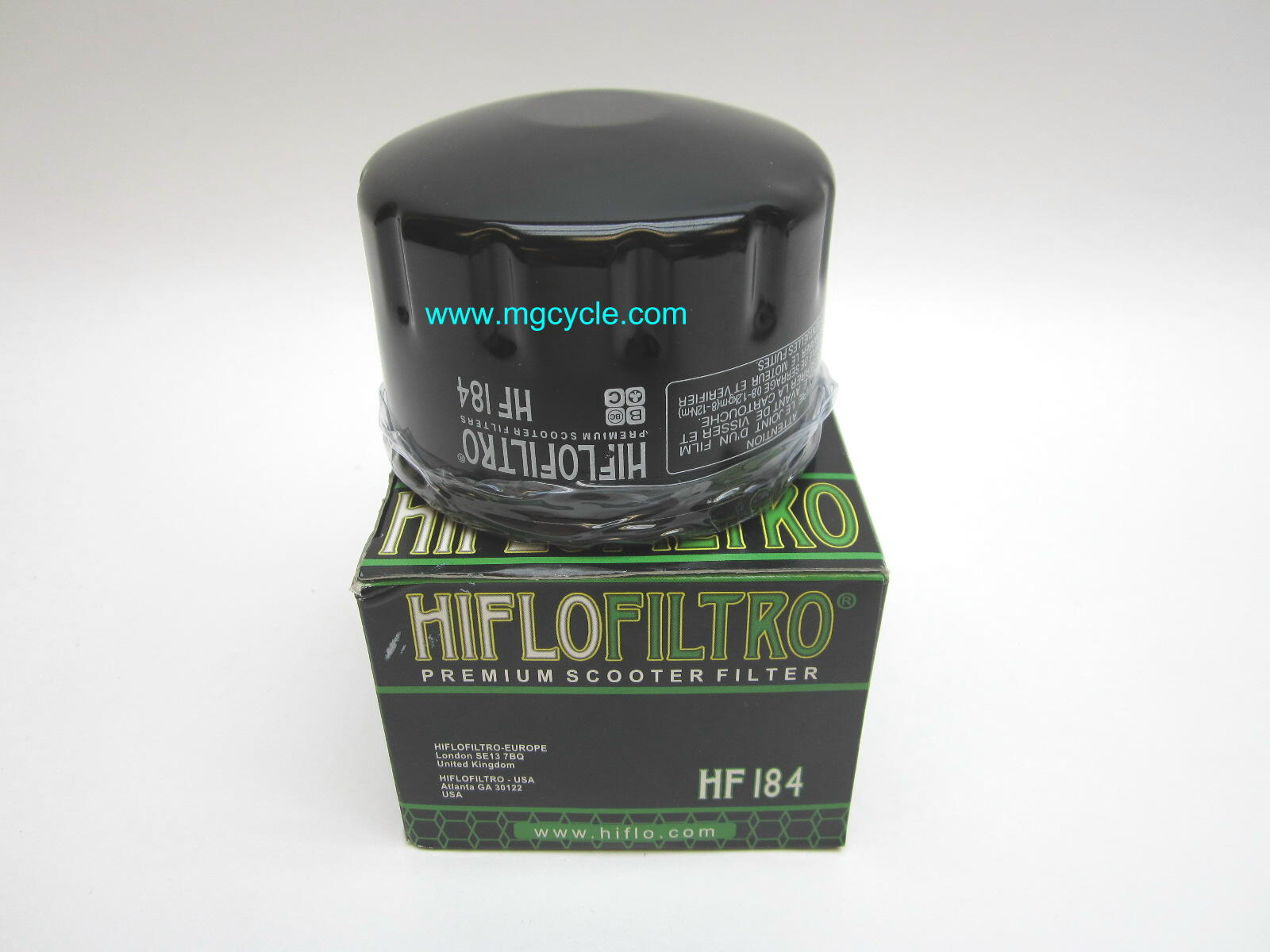 HiFlo oil filter Piaggio and Aprilia scooters
