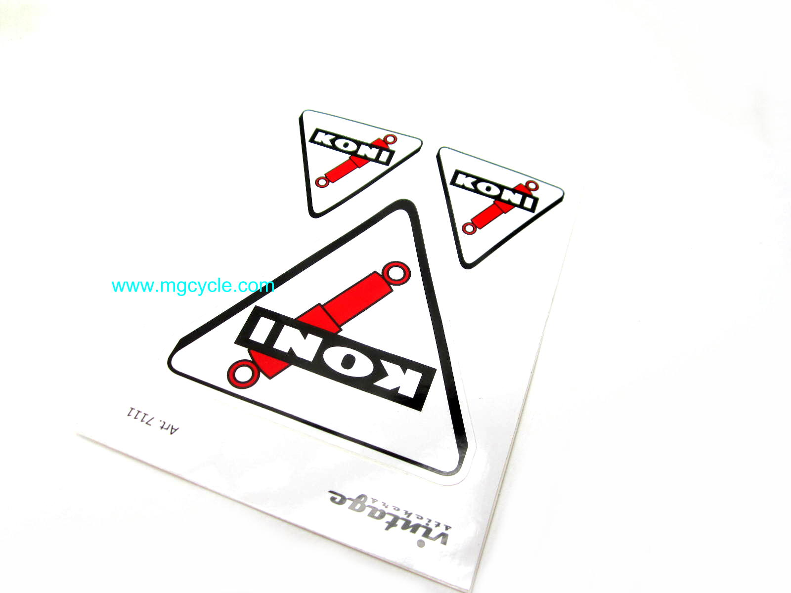 peel and stick KONI stickers, 3 pieces