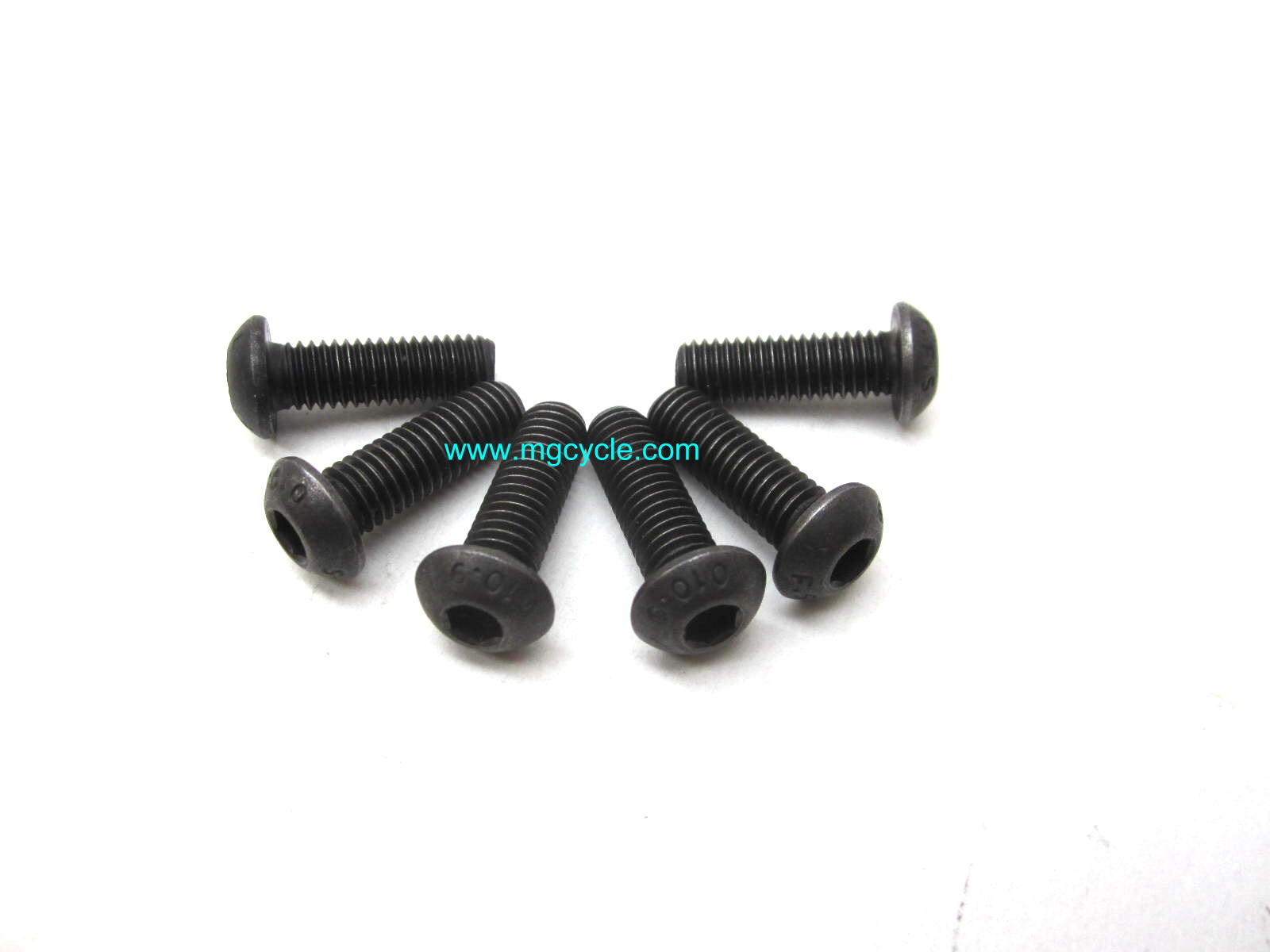 Brake disk fastener kit, one disk, 6 pieces button head 10.9