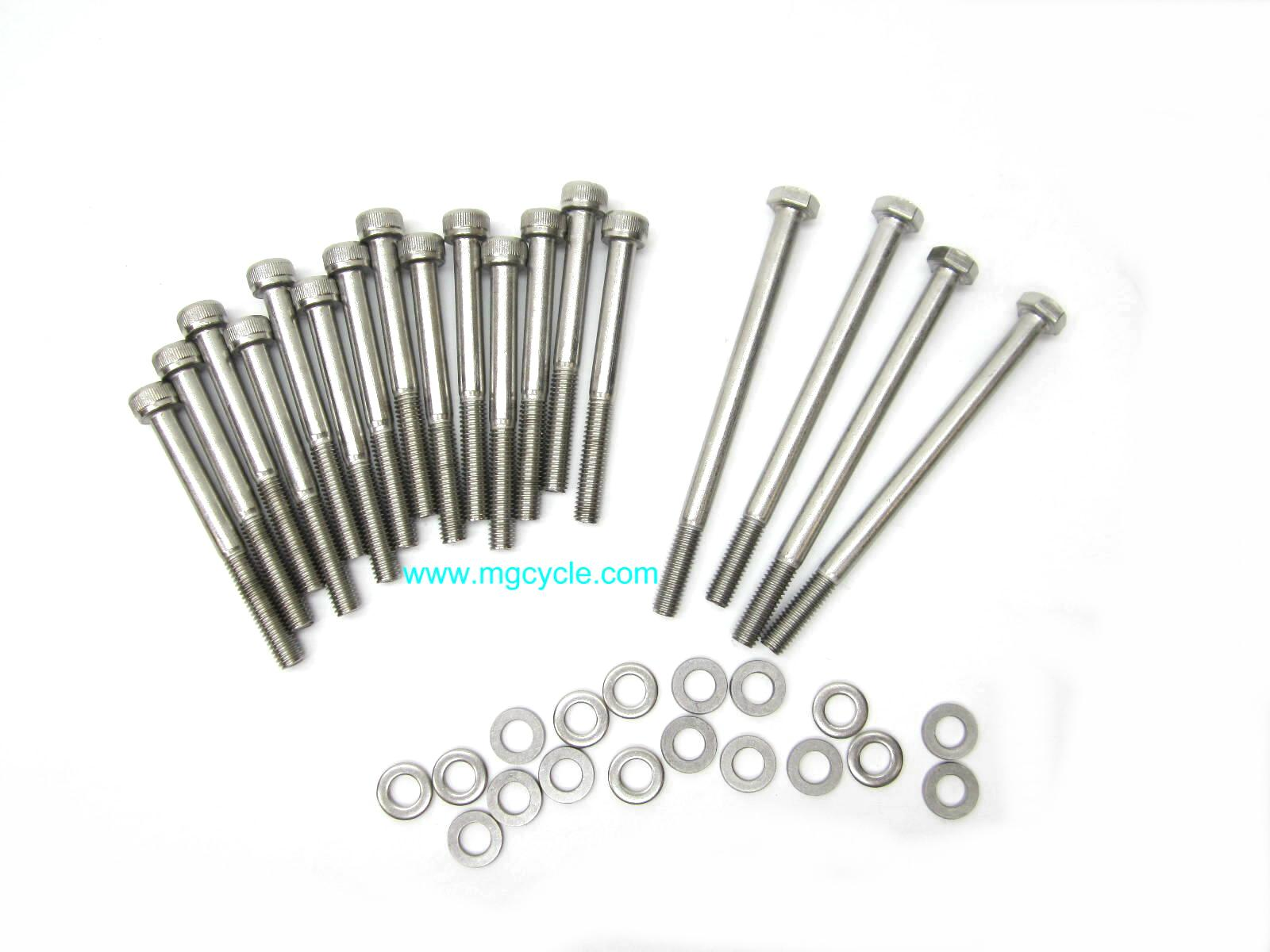 Stainless bolt kit, oil pan with filter and spacer,