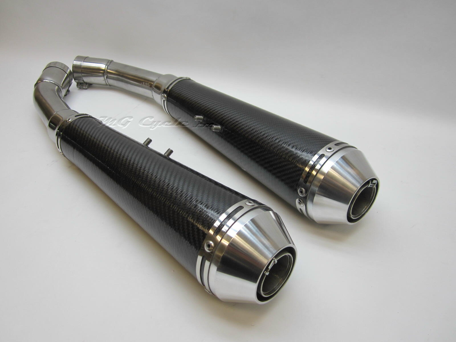 Mistral carbon fiber mufflers for V11 Sport and LeMans series