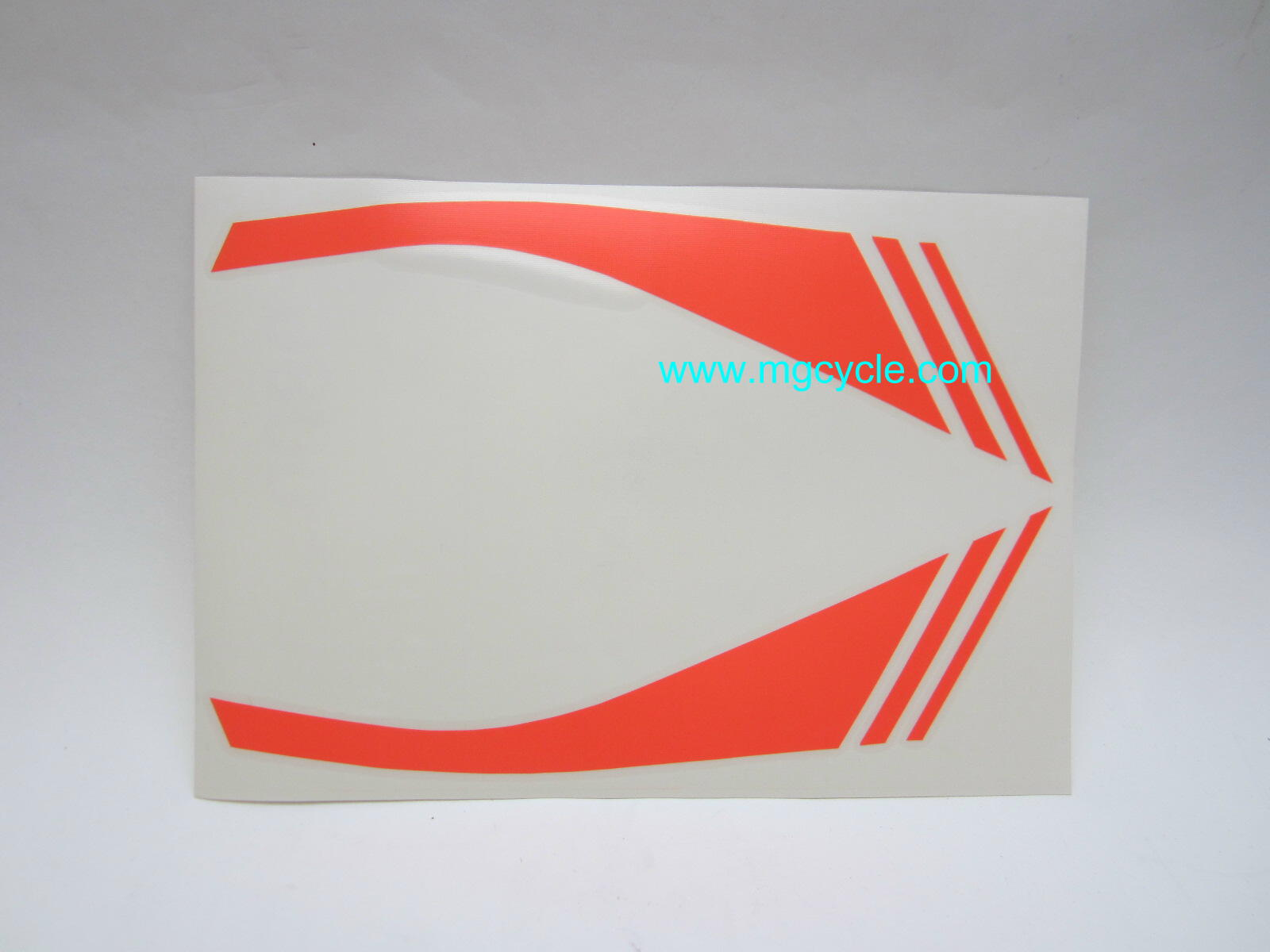 Fairing stripe decal set flourescent orange LeMans III
