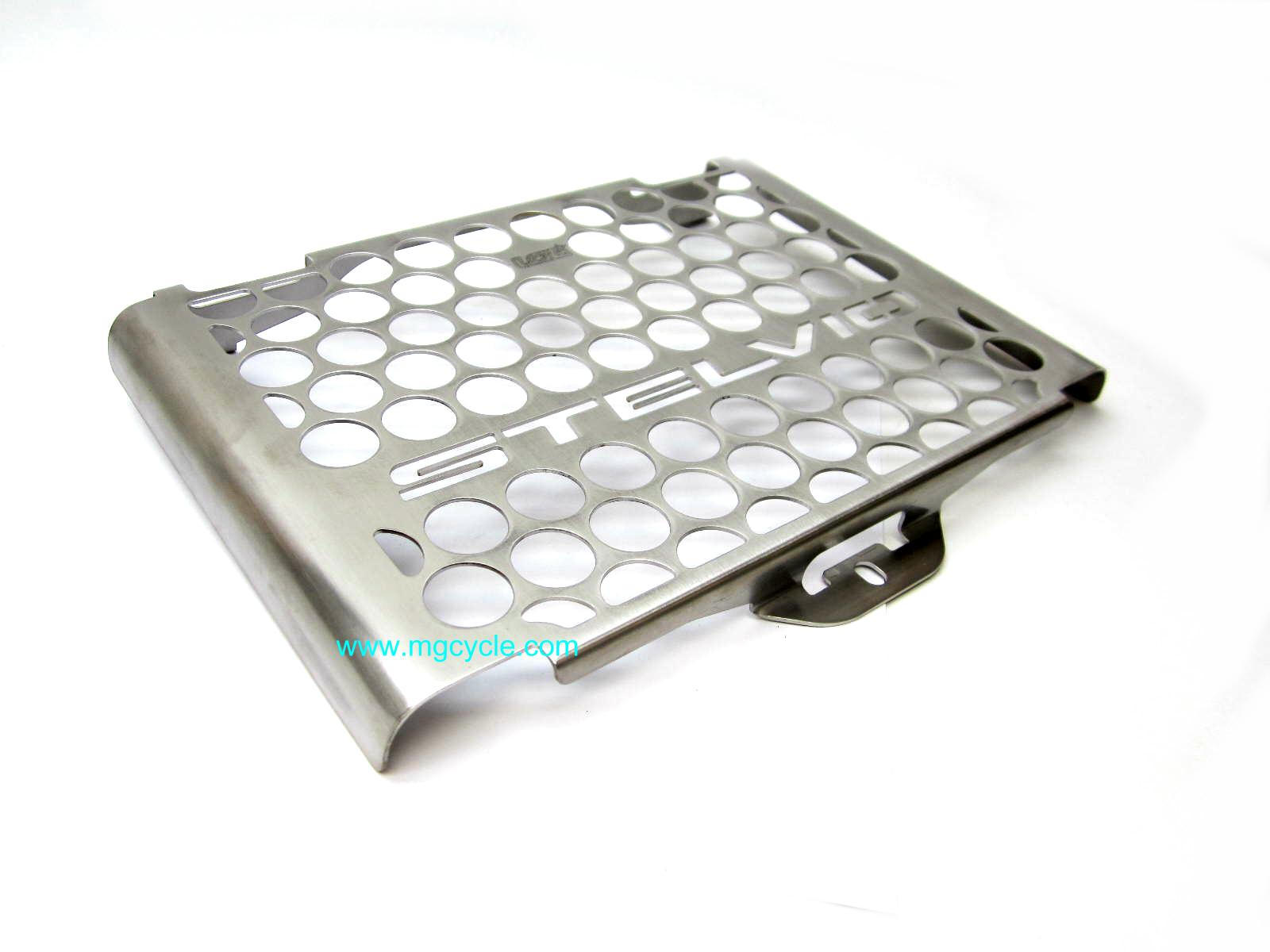 Stainless oil cooler cover, Stelvio NTX 2011 and later