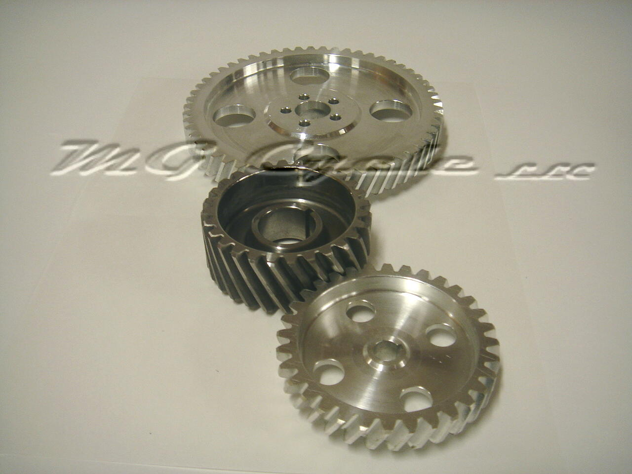 timing gear set helical cut steel driving gear