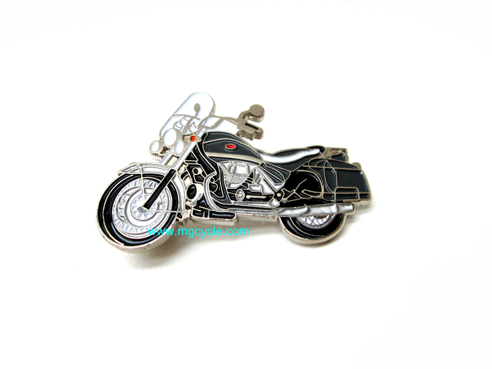 lapel pin, California Vintage motorcycle, enameled