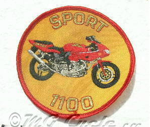 1100 Sport patch, round, red bike