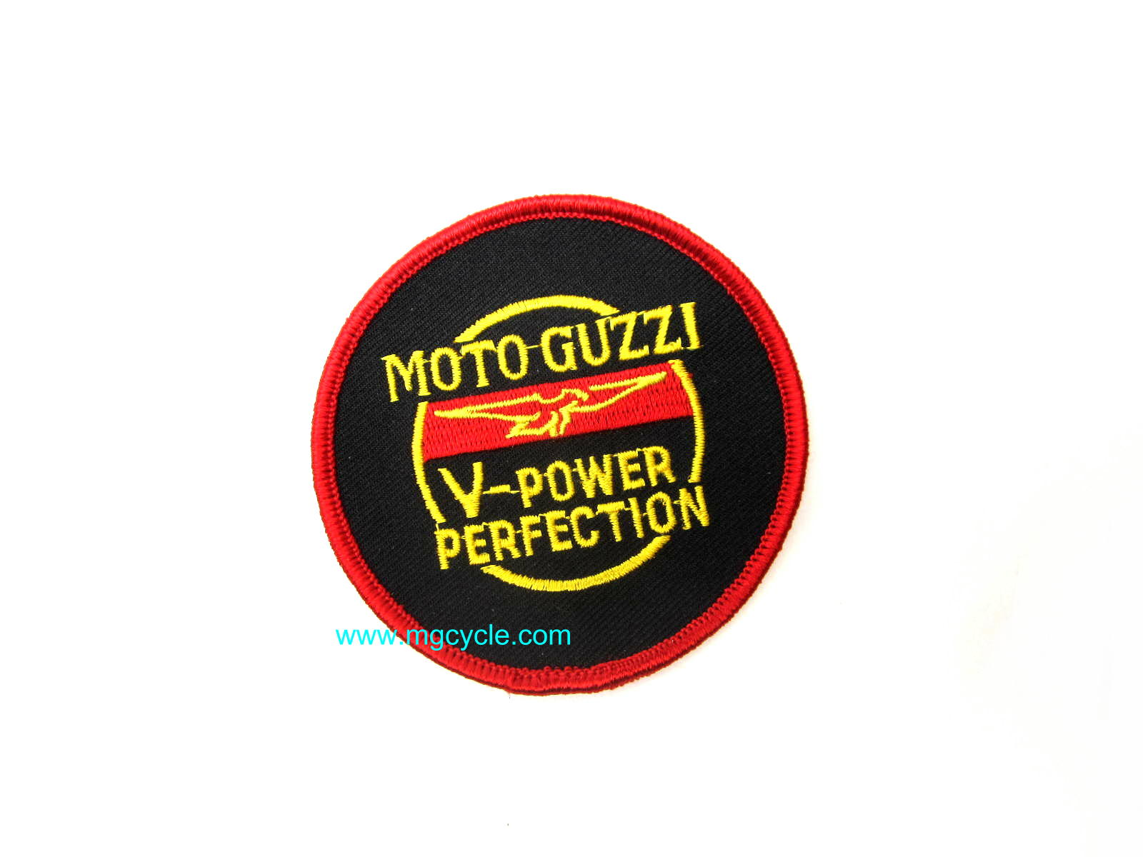 """V Power Perfection"" patch, round"