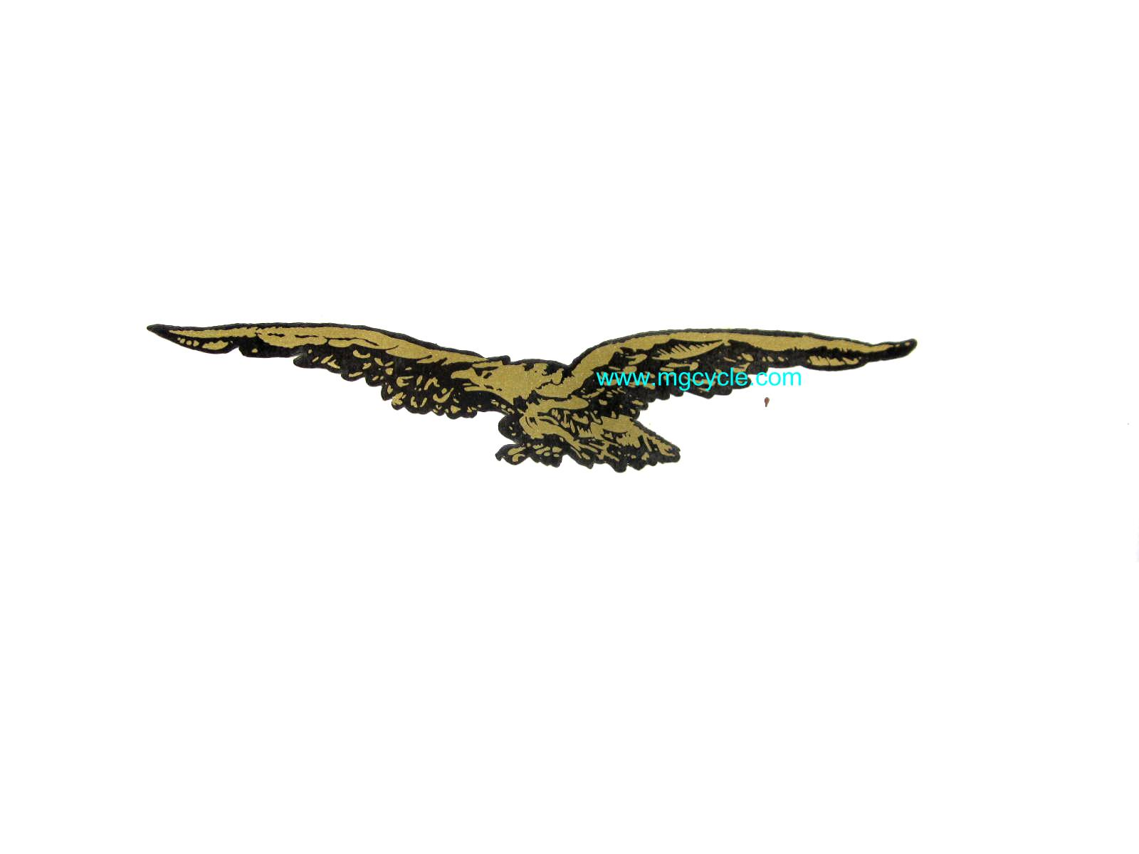 Decal, Eagle only, Gold and black, Nuovo Falcone, left facing