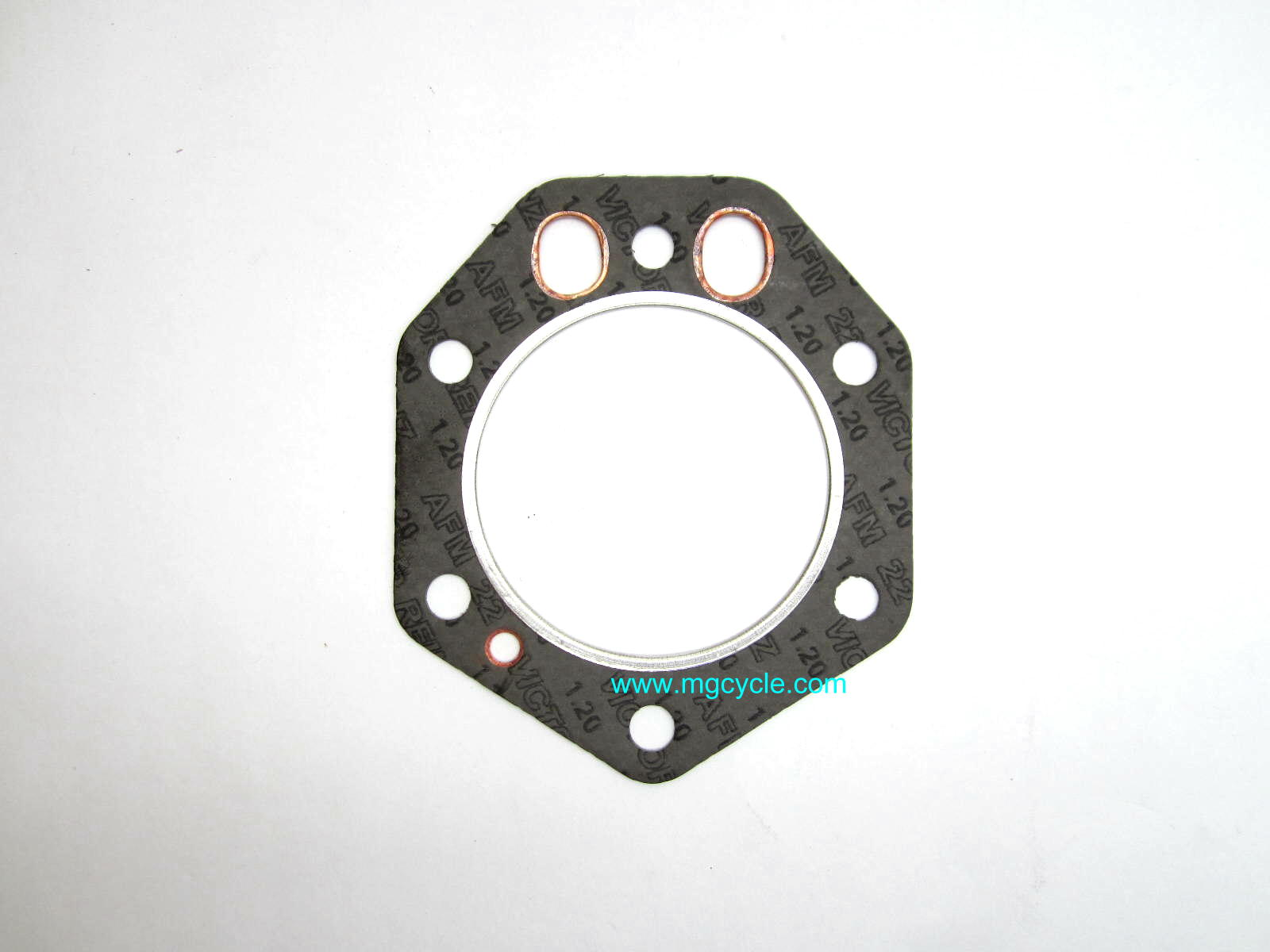 Head gasket, oval push rod holes for Gilardoni T T3 Eldo Amb - Click Image to Close