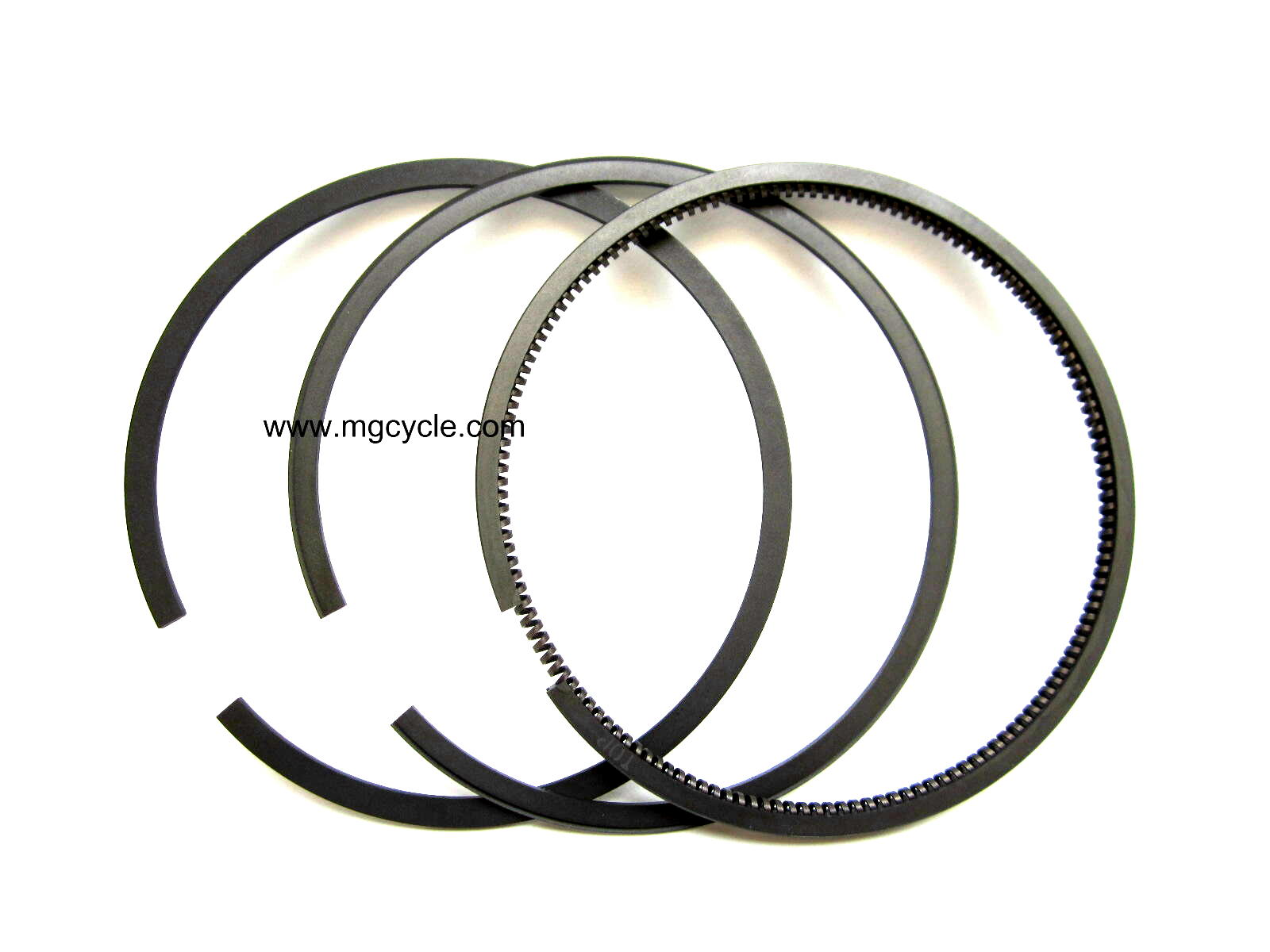 piston ring set, per piston, 83mm, for plated or iron bore