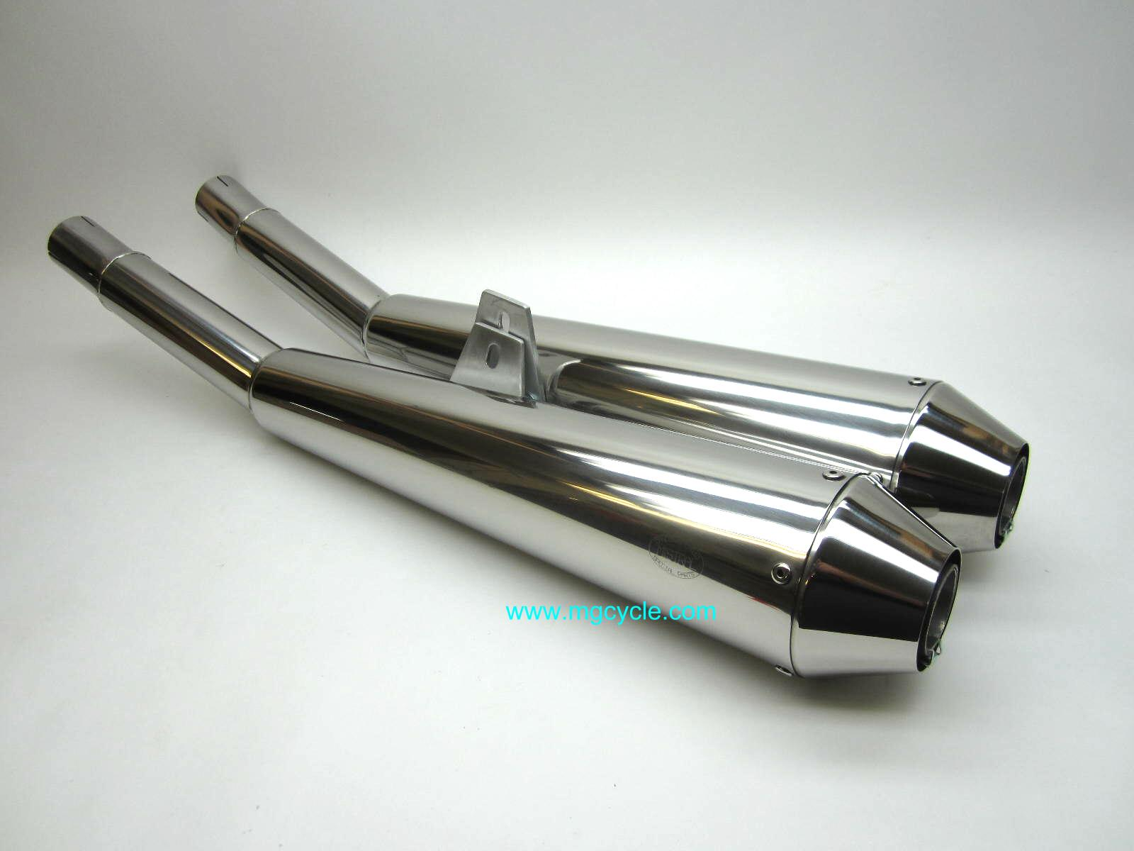 Mistral reverse cone muffler set for LeMans 1000 and 1000S