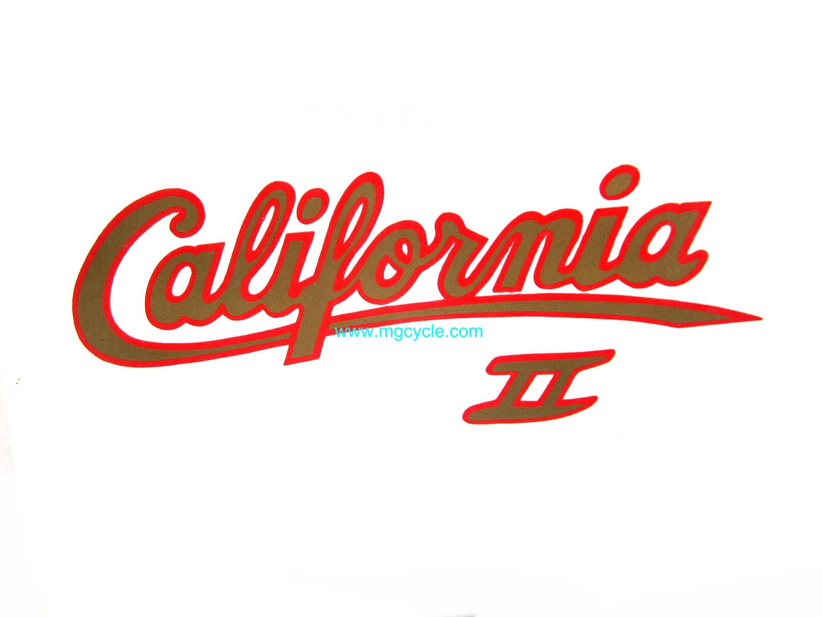 Decal, California 2 side cover, red and gold