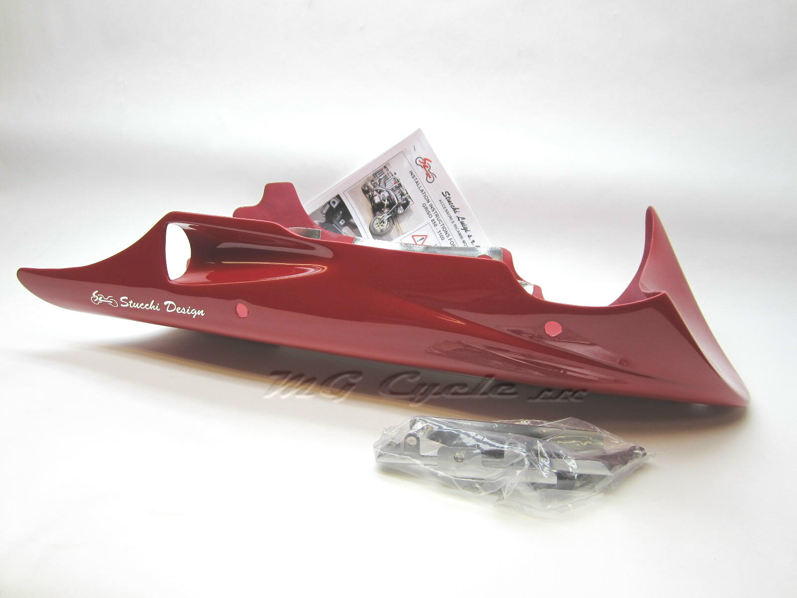 chin spoiler belly pan, Griso 2008 & later  4V, 8V, Red painted