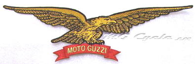 Moto Guzzi eagle back patch, embroidered