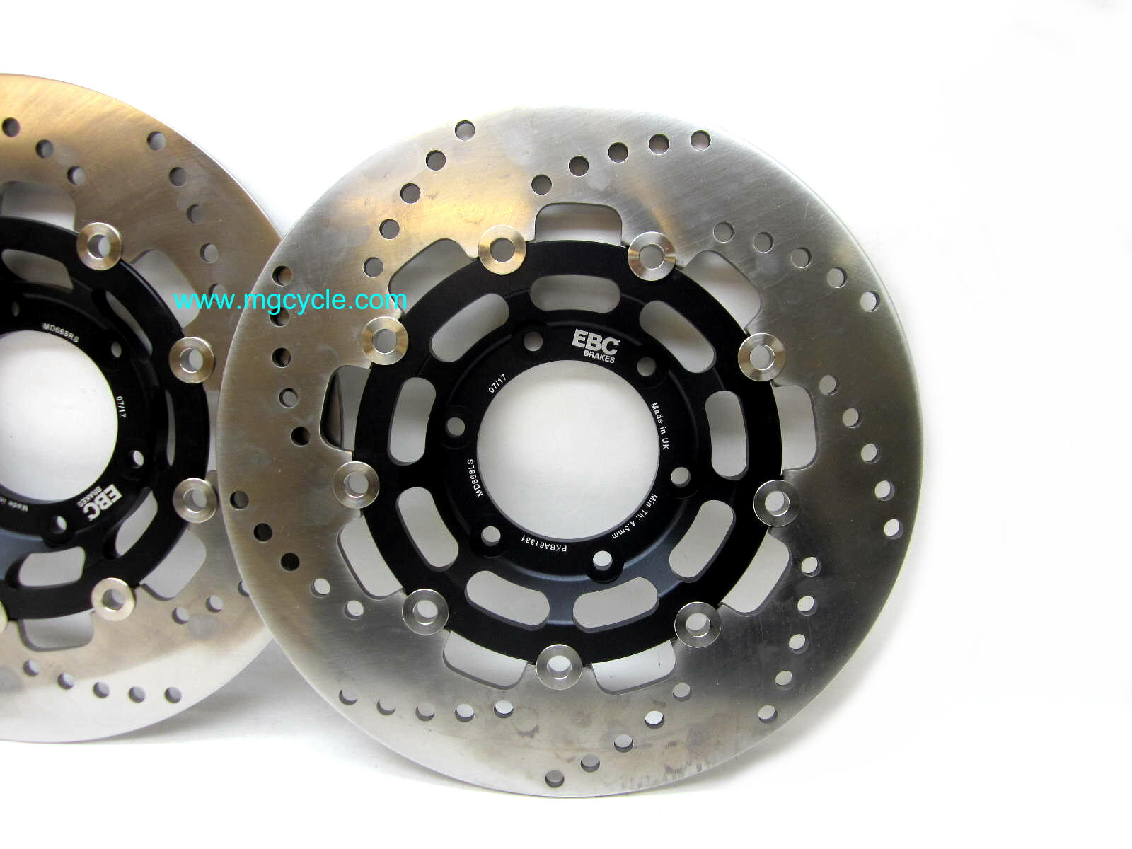 New Black EBC 300mm Pro-lite full floating brake disks, pair