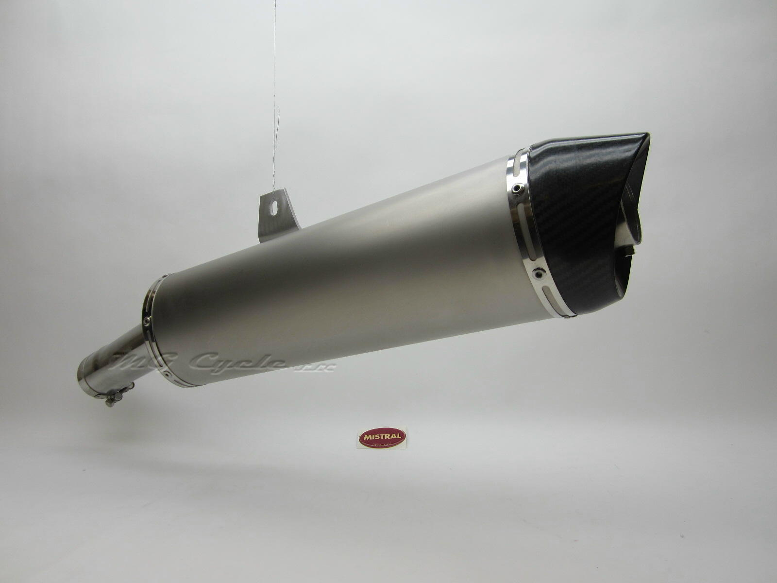 Mistral muffler, titanium oval w carbon fiber end cap, for Griso