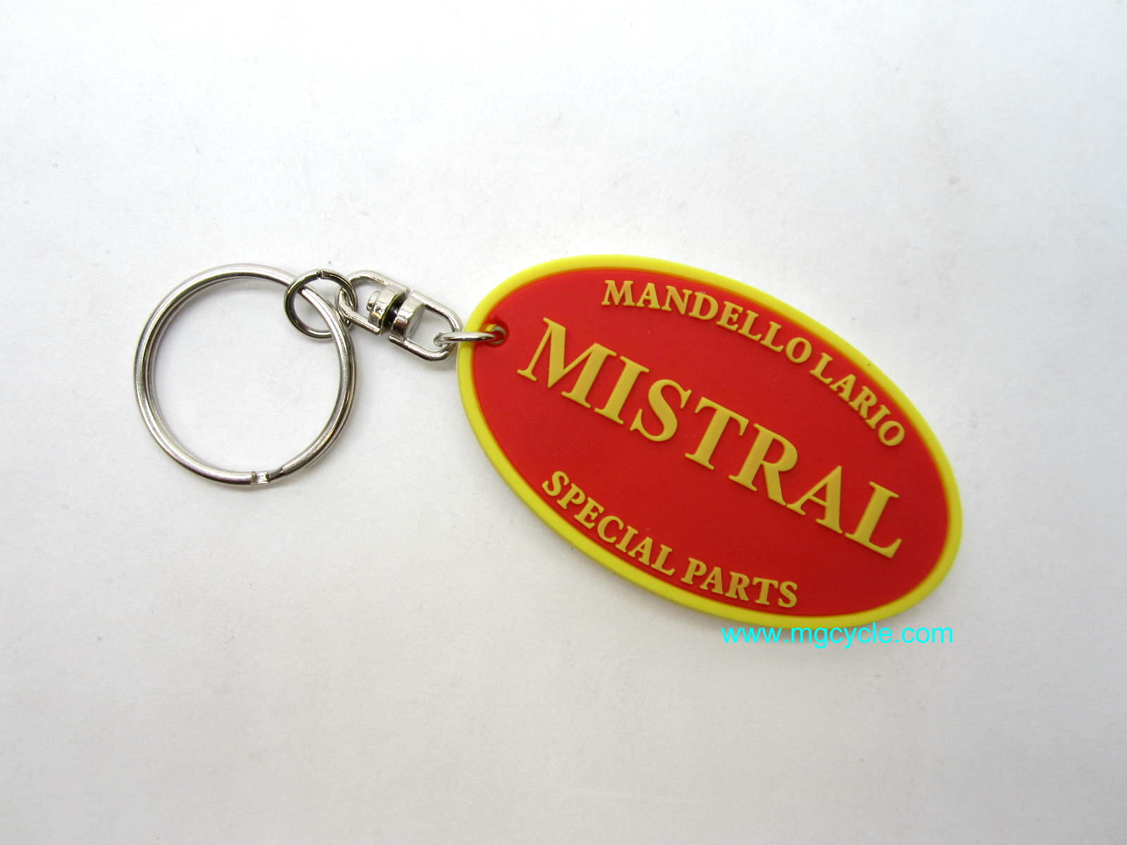 Mistral rubber key chain fob