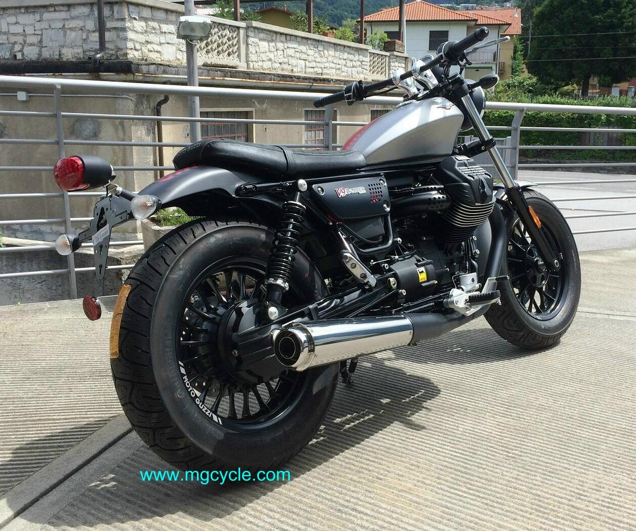 Mistral V9 Bobber and V9 Roamer conical slip-on mufflers