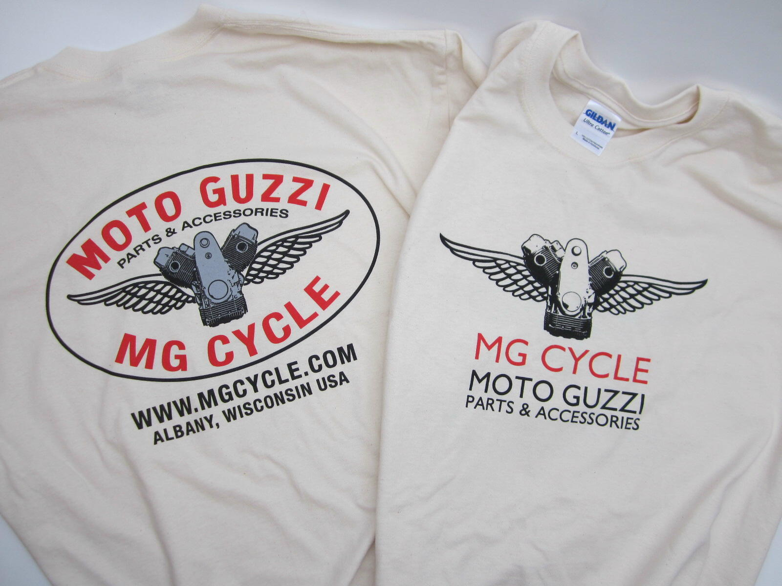 MG Cycle T shirt double extra large natural cotton