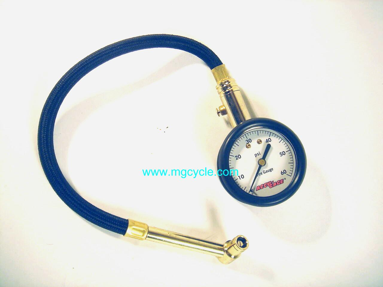 Accu-Gage tire pressure gauge, 0-60psi,