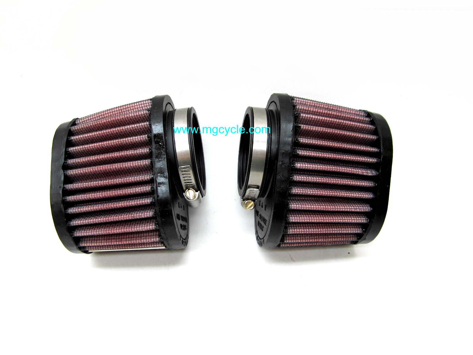 K&N air filter set for PHM 40 carbs, V11 Californias
