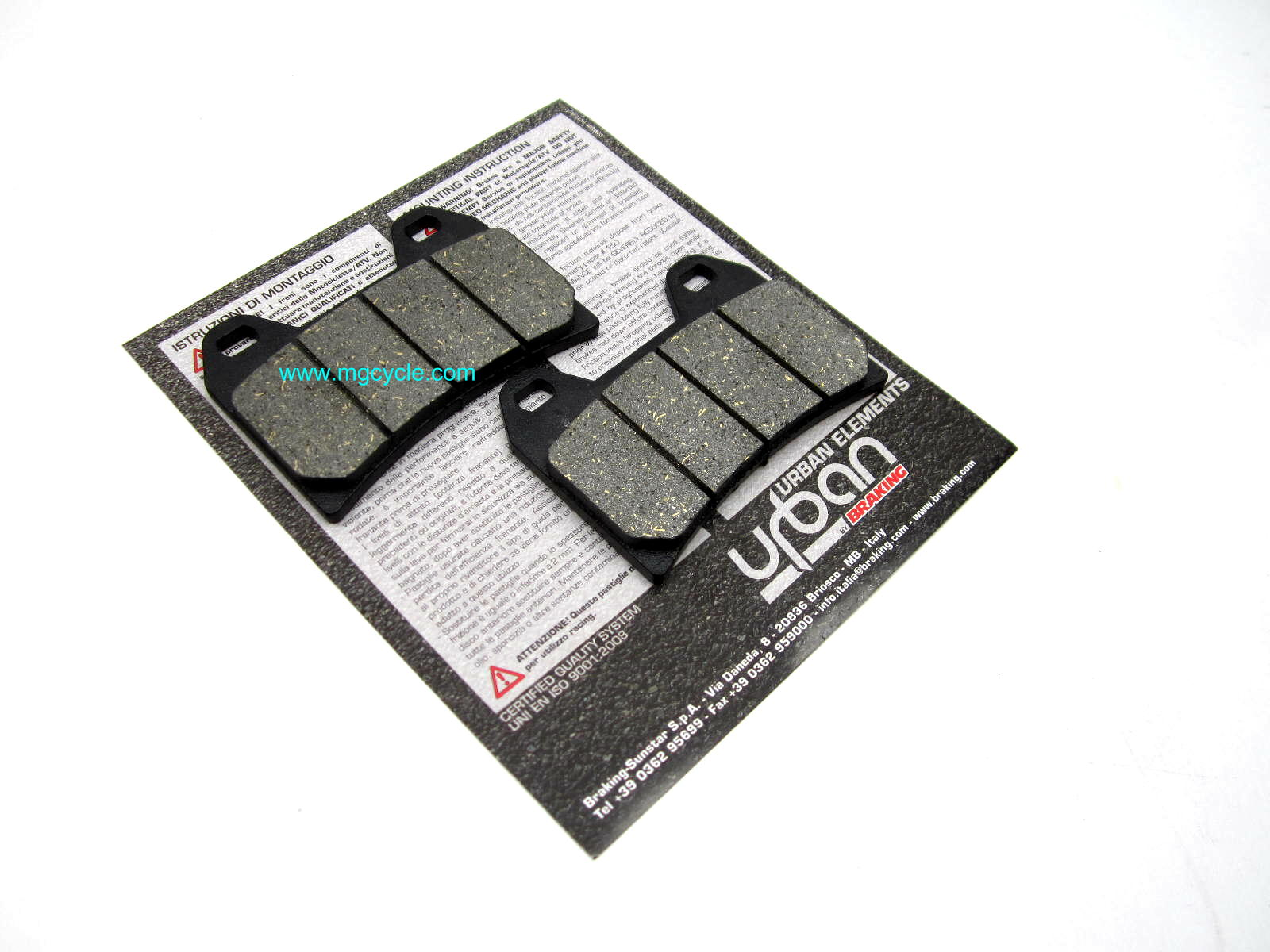 Braking SM1 front brake pads most Moto Guzzi from 2001 onward
