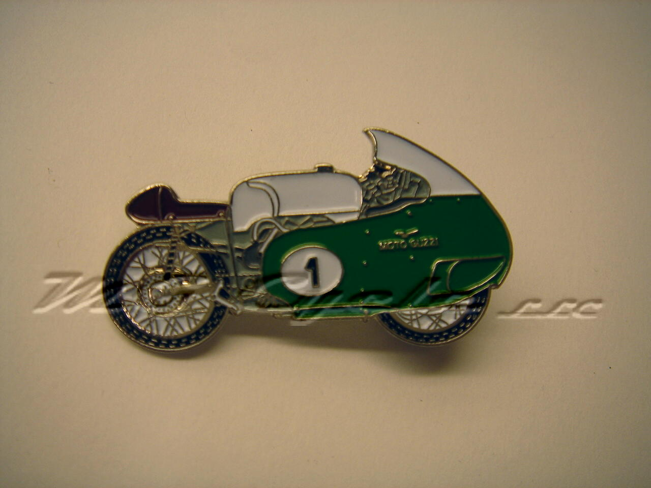 enameled V8 motorcycle lapel pin