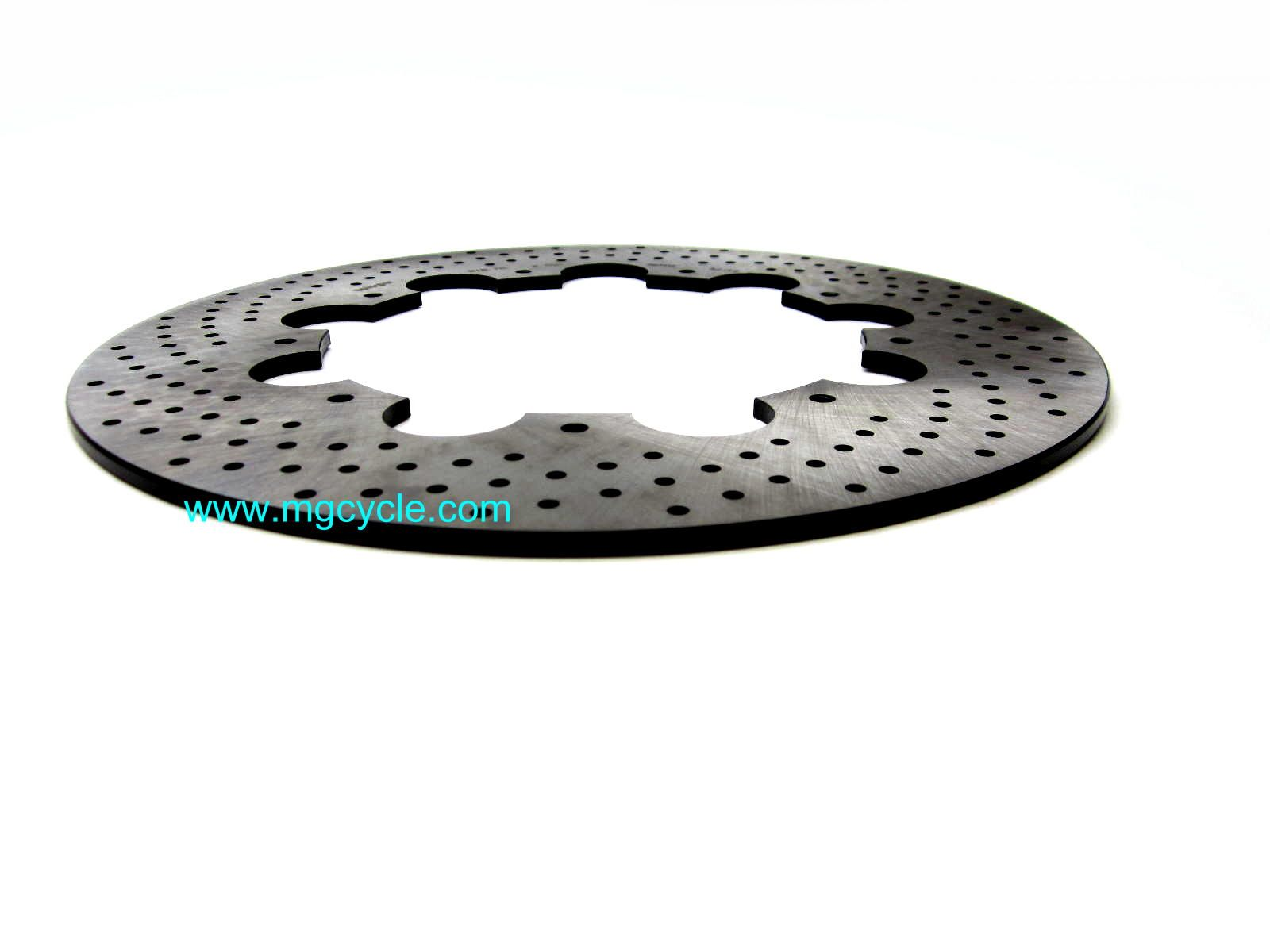 280mm drilled stainless brake disc Ducati bevel, front and rear