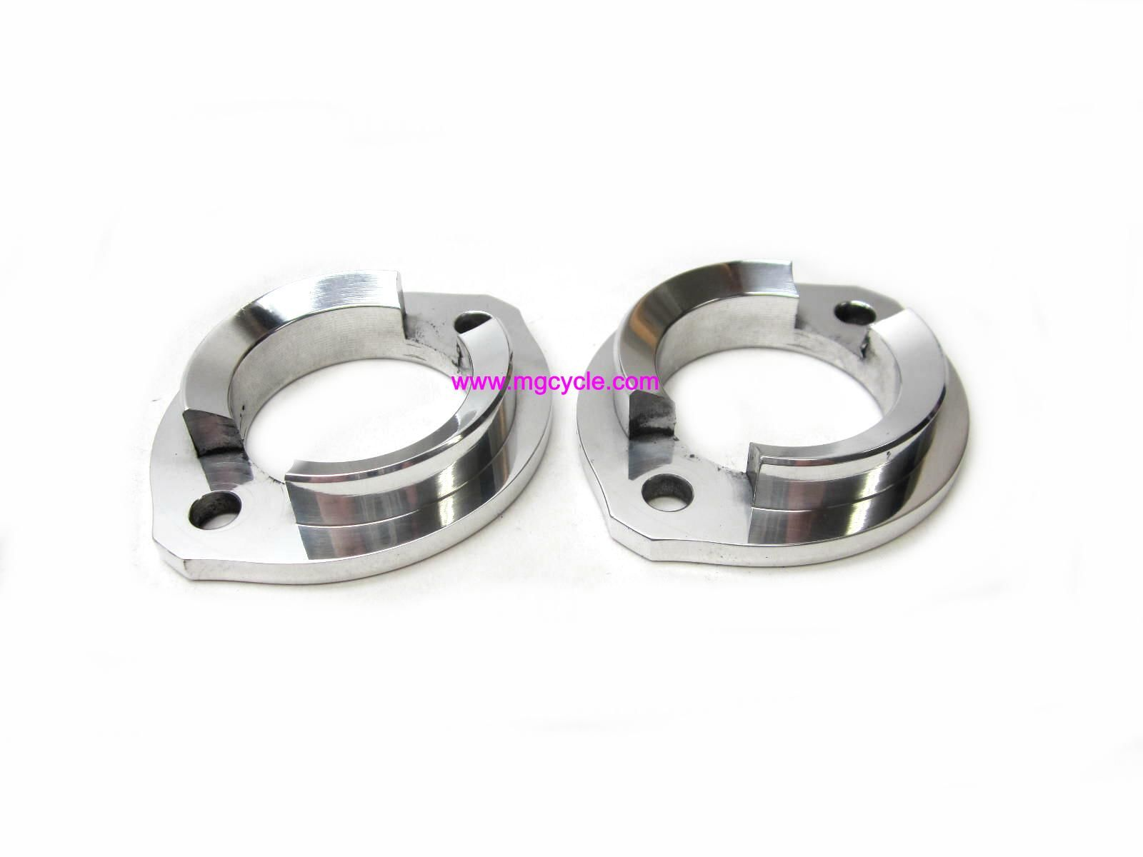 CNC aluminum exhaust flange pair, 45mm
