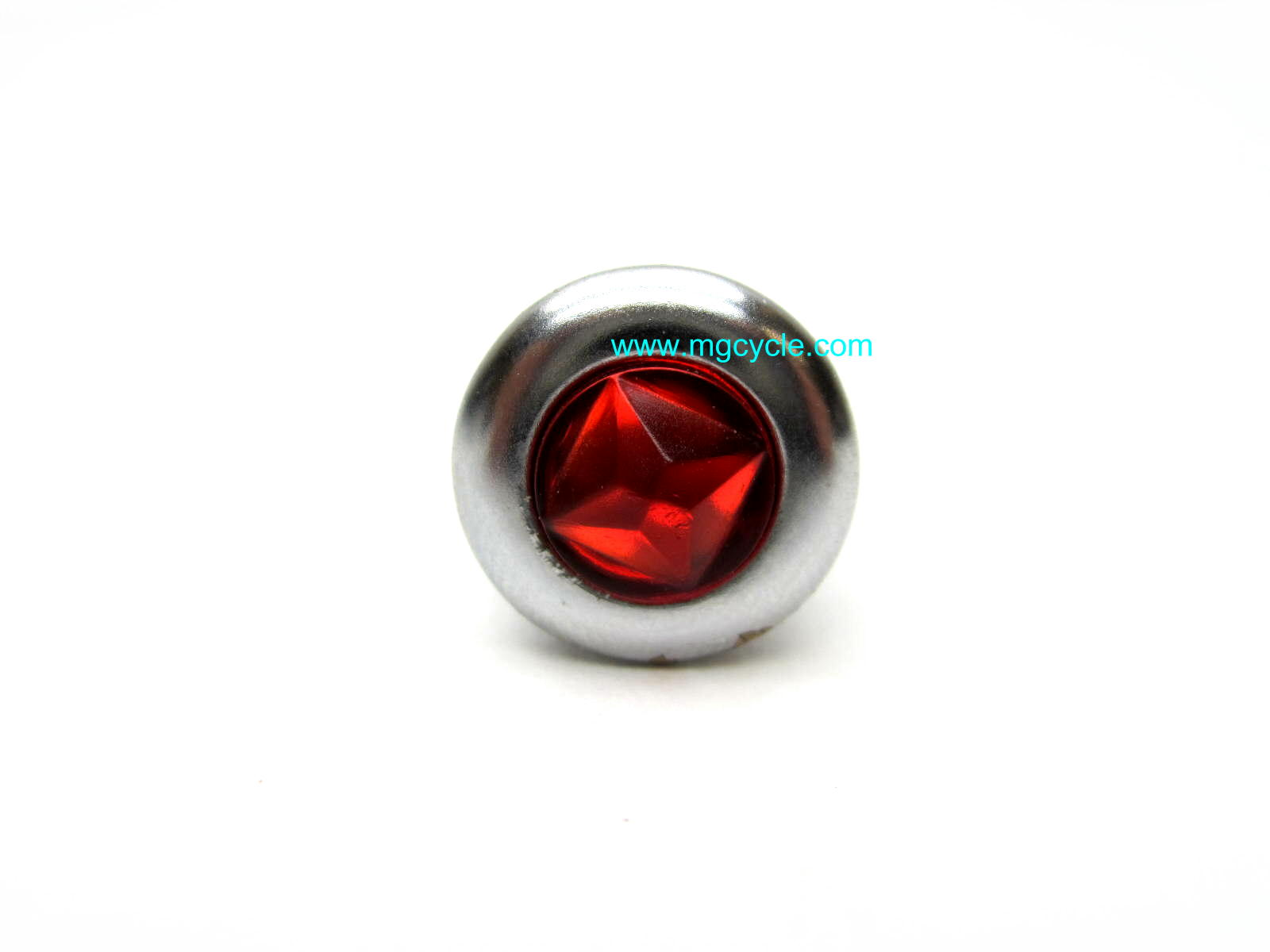 Idiot light lens trim ring and lamp holder red V7 Sport 850T
